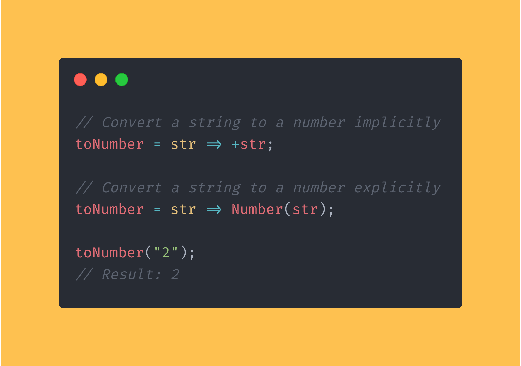 JavaScript function that converts a string containing a number to an actual number