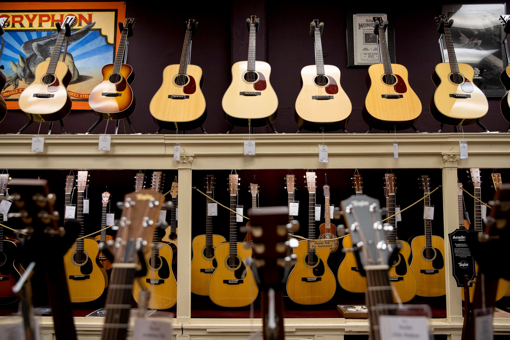Palo Alto's pop-and-pop guitar shop defies retail odds (and