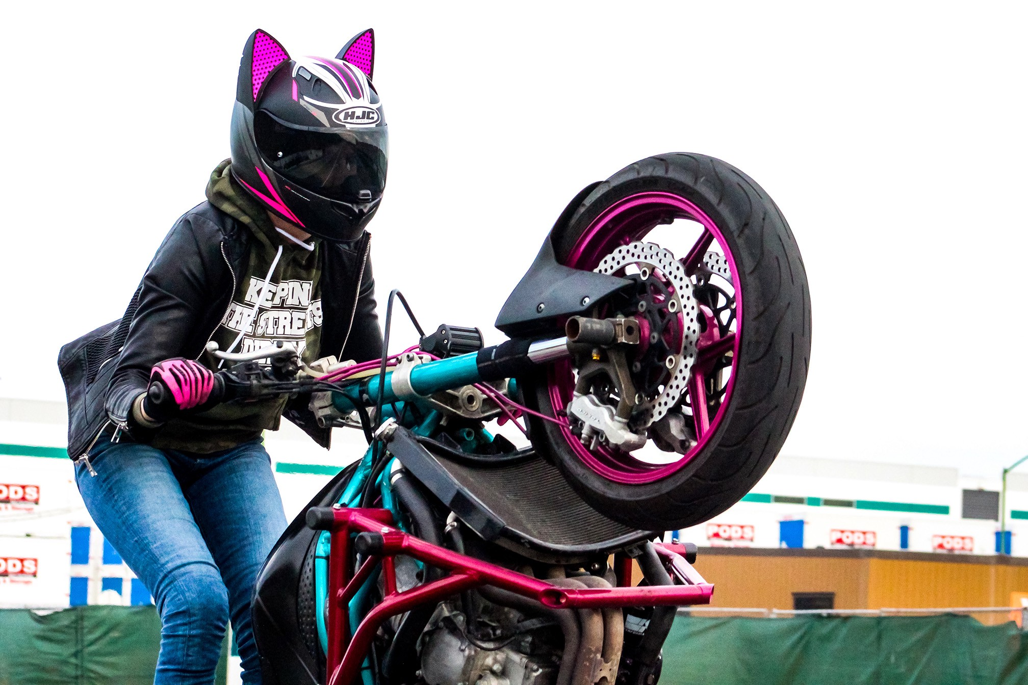Popping wheelies on Silicon Valley highways: The local stunt