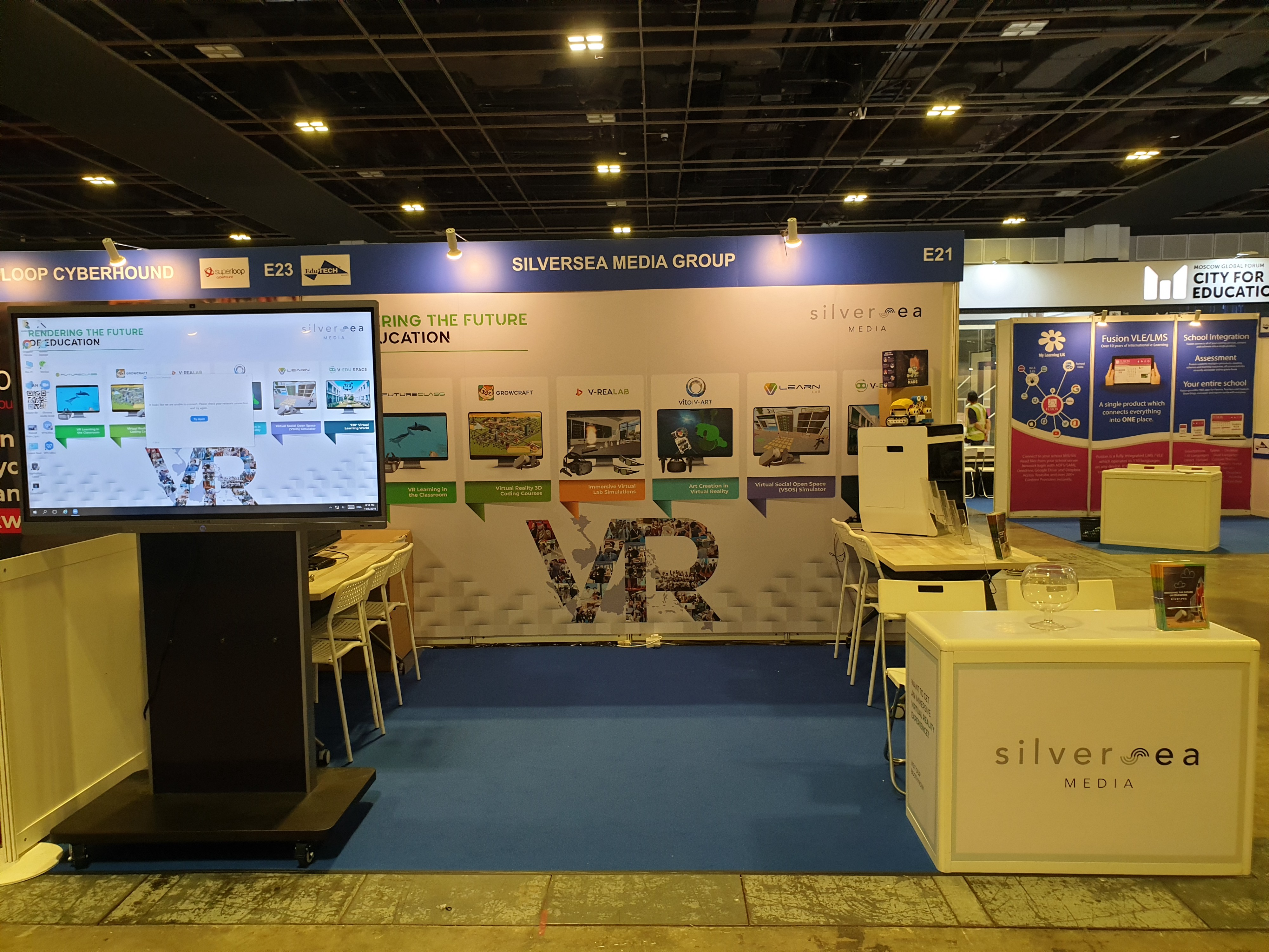 E21 Booth—Silversea Media Group Immersive Experiences