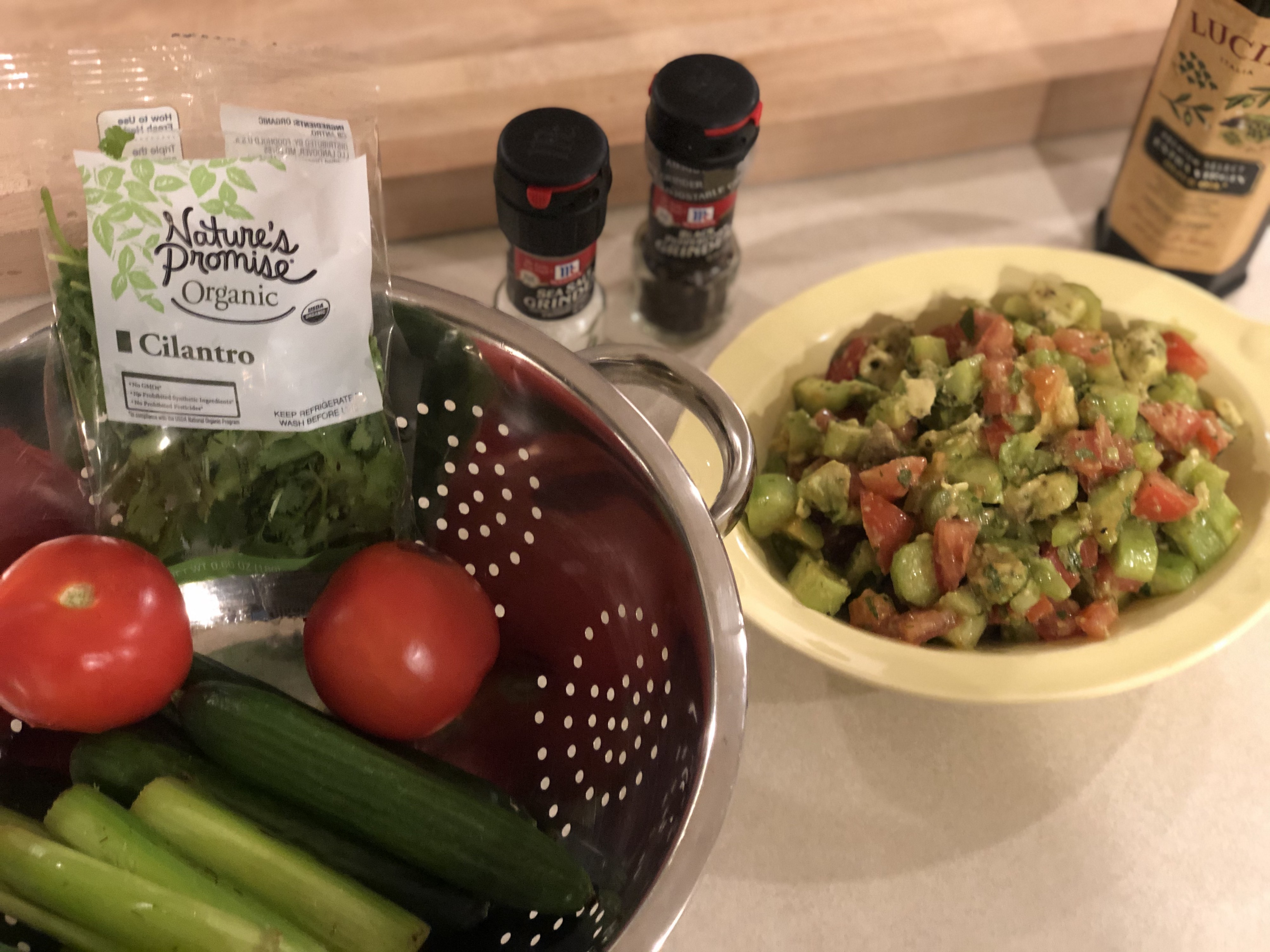 What I ate to break my 72 hour fast - vegetable salad