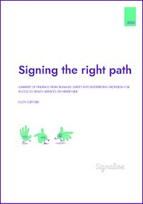 Signing the right path report front cover