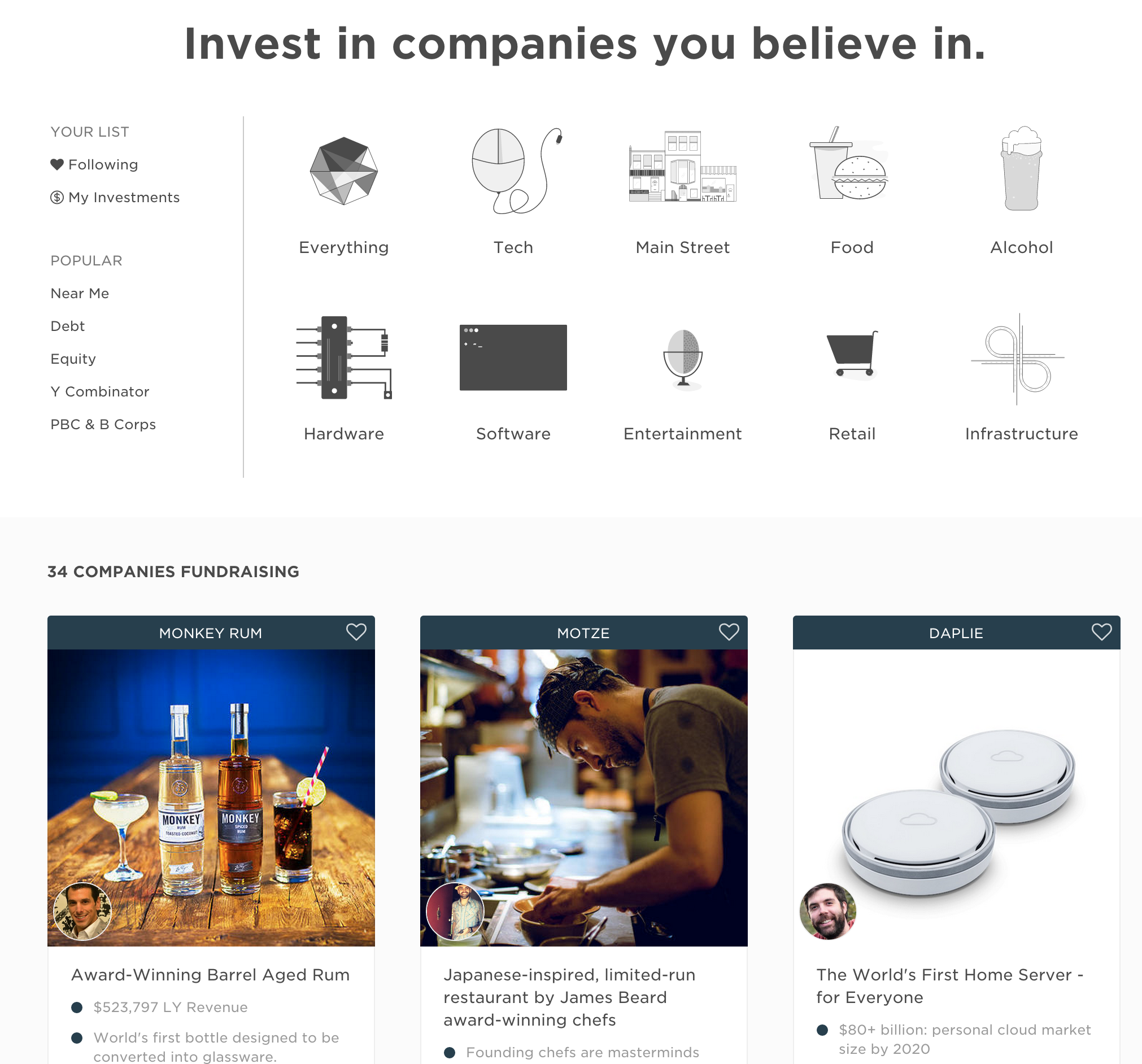 New Explore Page - Wefunder Engineering