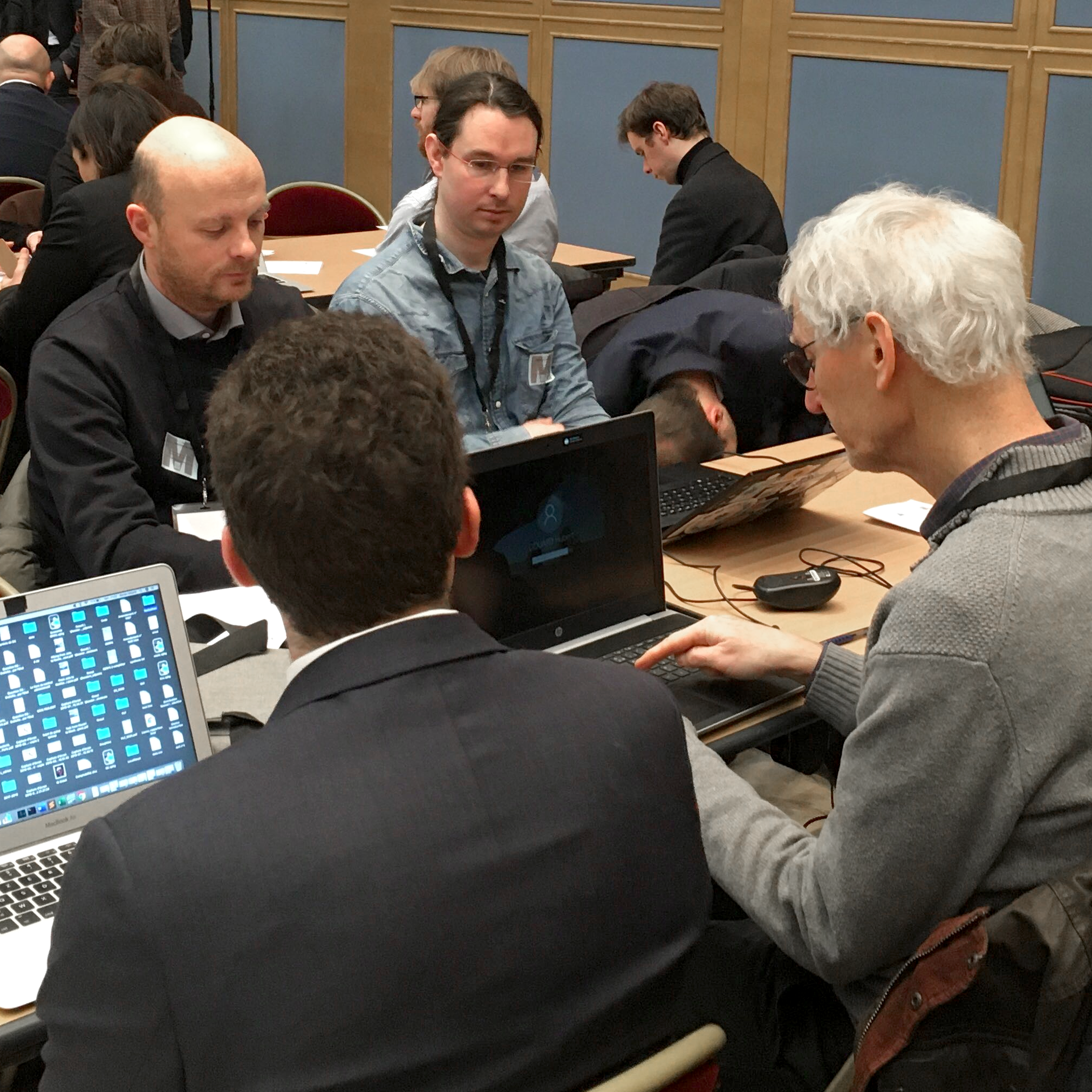ARK CEO FX Thoorens in attendance of the DATAFIN Hackathon taking place in the French Senate.