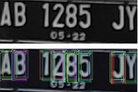 license plate recognition image