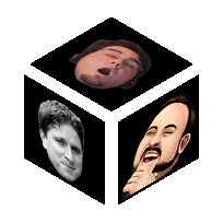A die with the Kappa, LUL, and Kreygasm Twitch emotes on its three visible faces.
