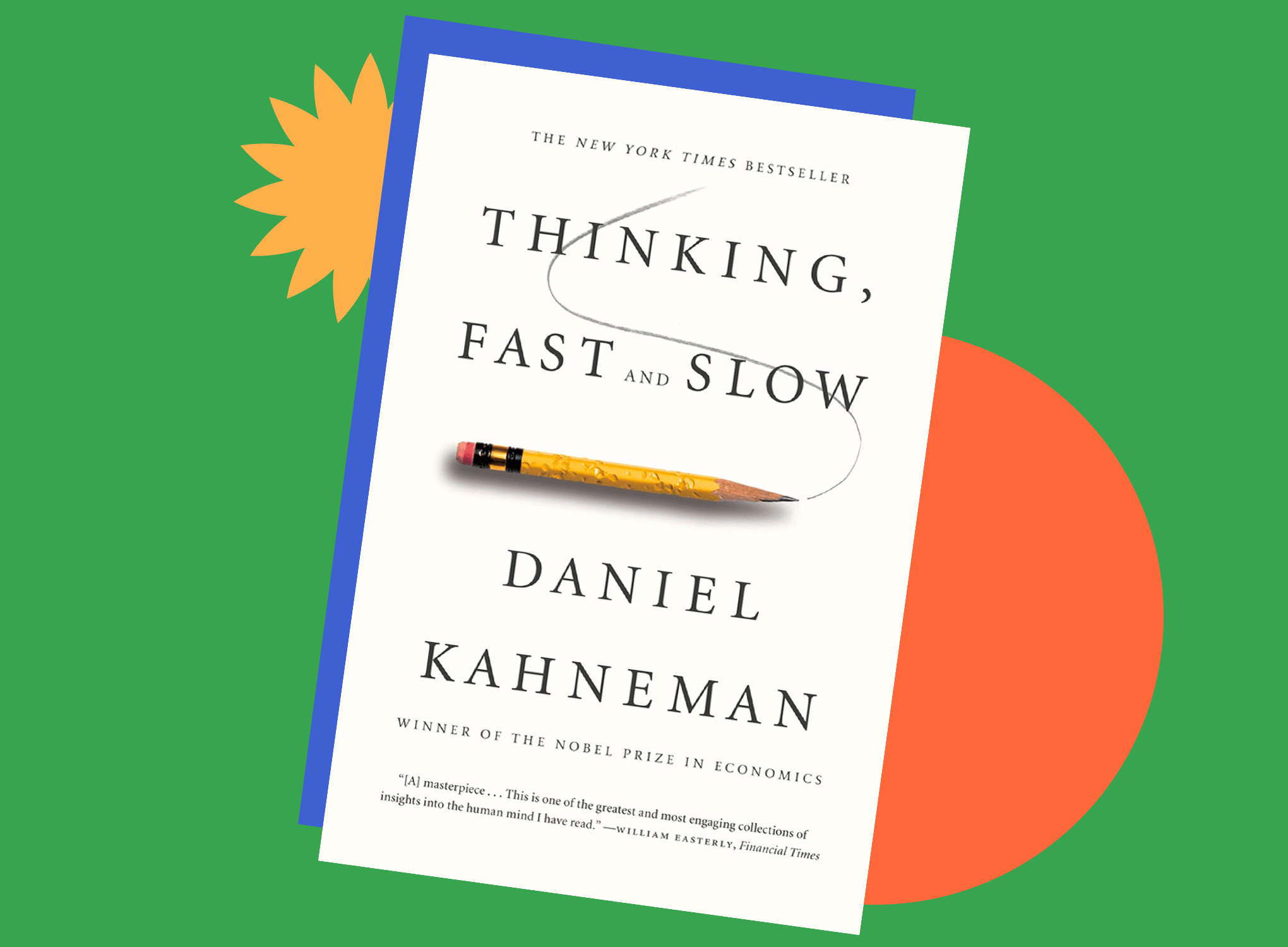 Book jacket cover for Thinking, Fast and Slow by Daniel Kahneman