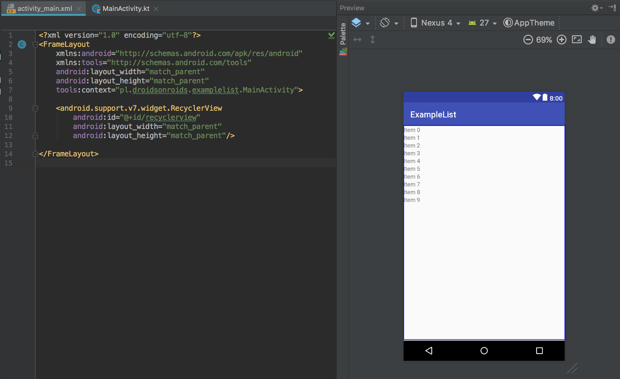 How to implement a RecyclerView? - ProAndroidDev