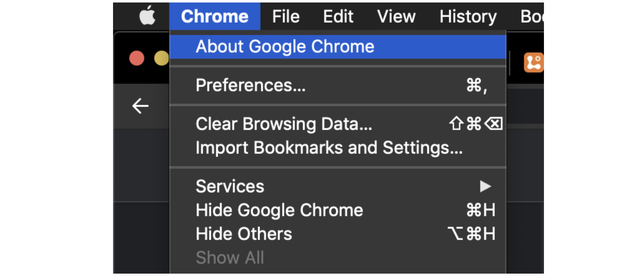 """About Google Chrome"" is where you can update your version"