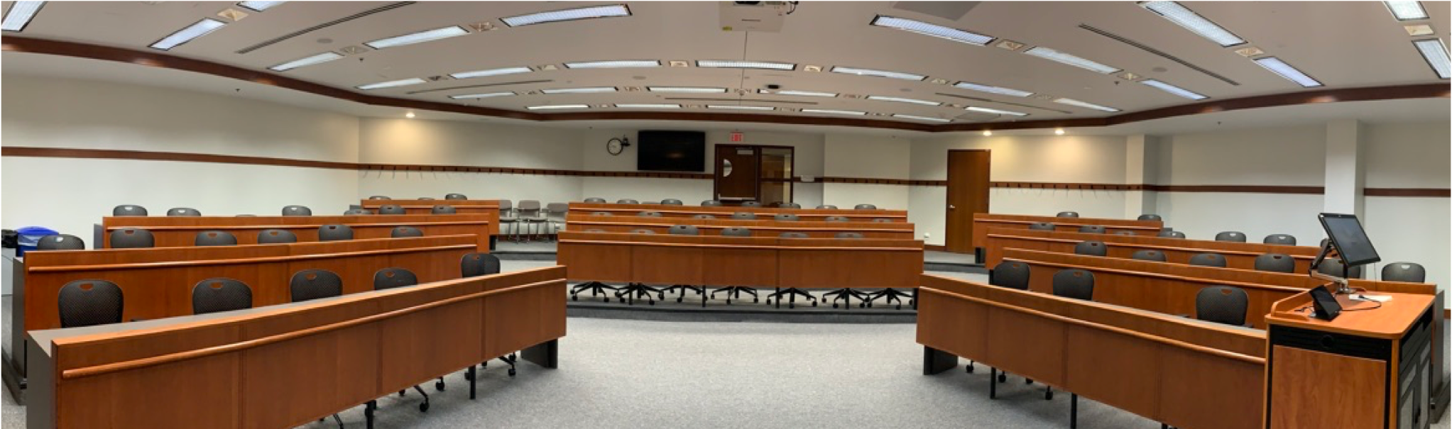 Modern lecture hall.