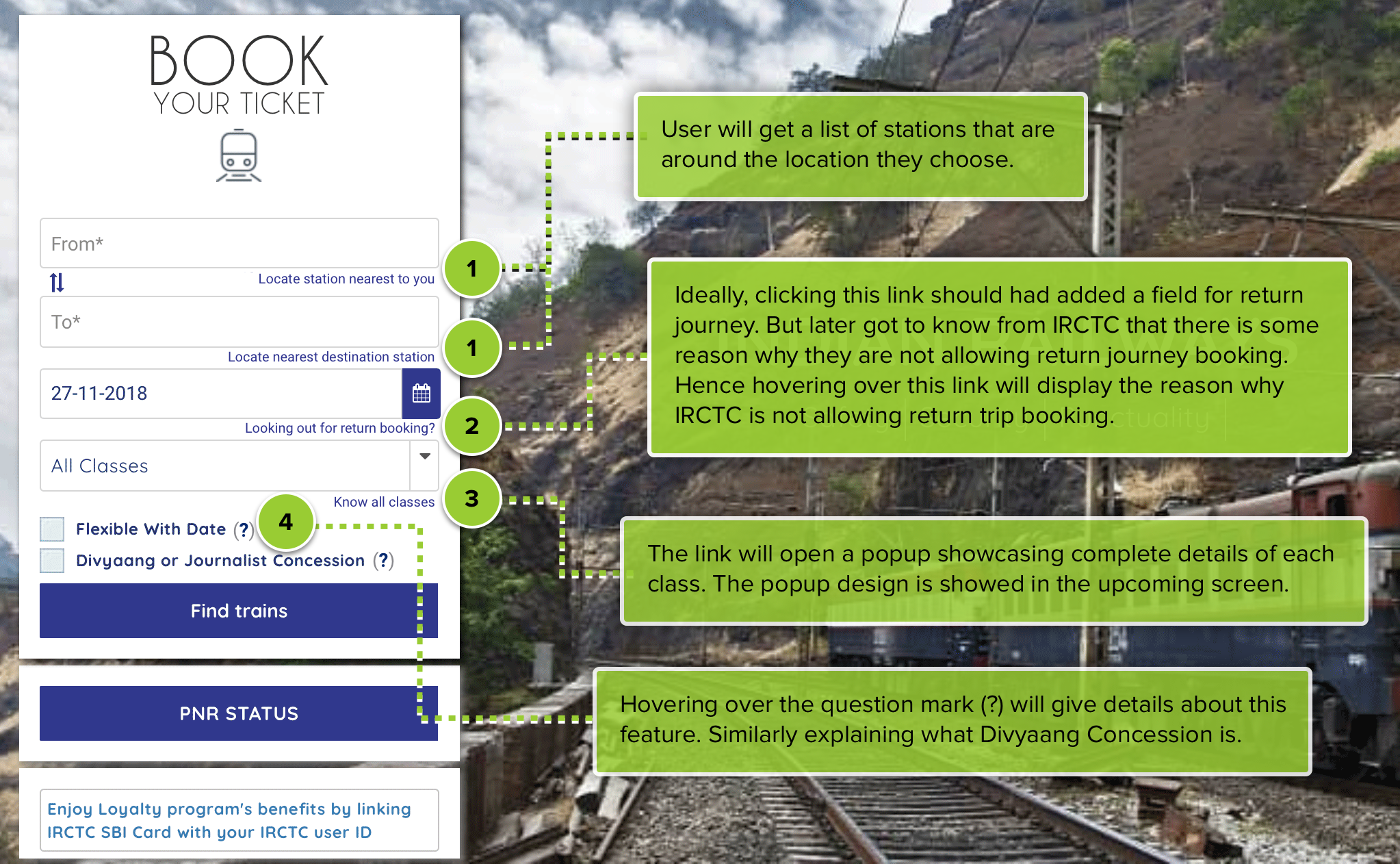 UX audit of IRCTC booking flow presented to the IRCTC team