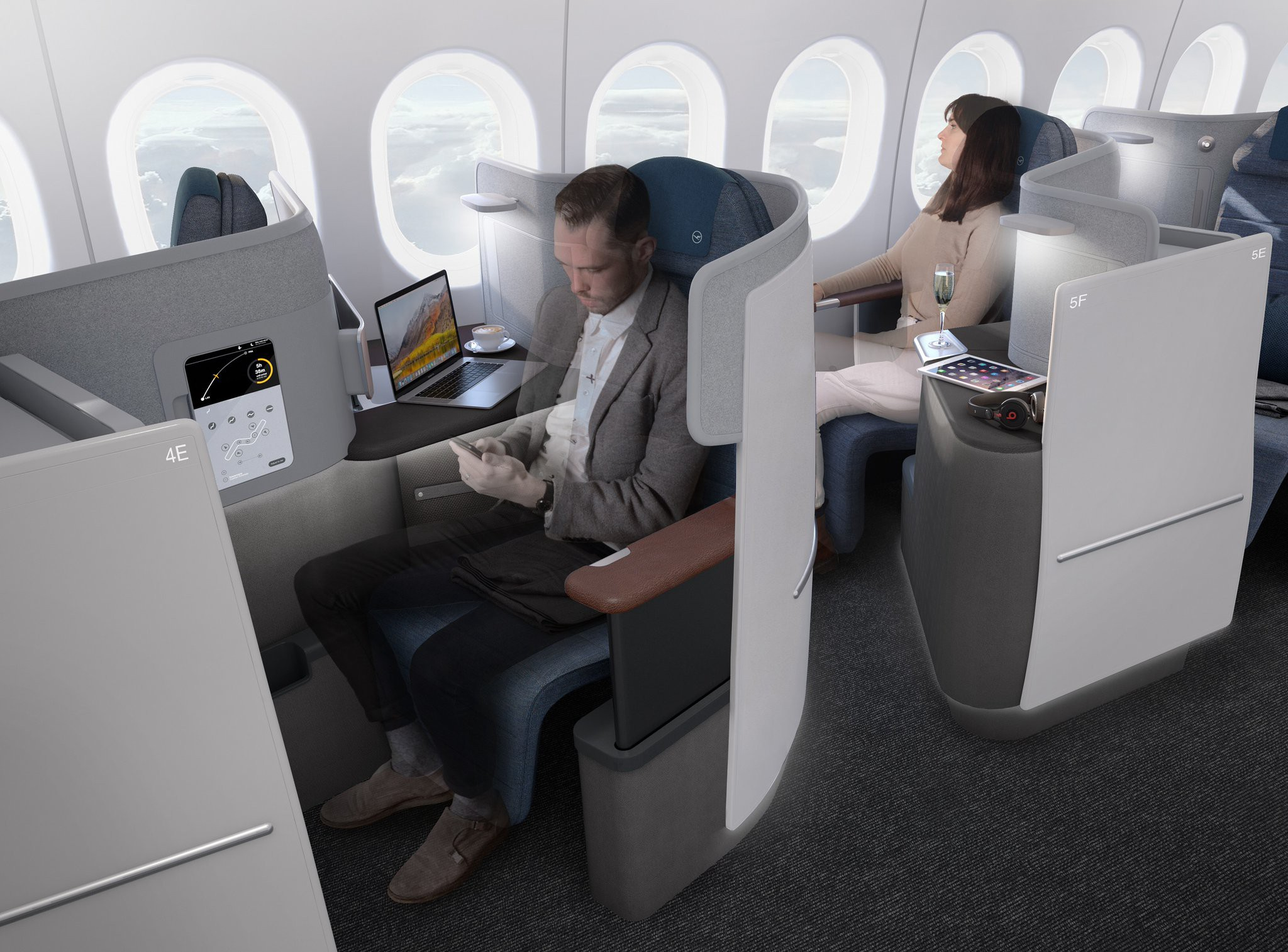 Enjoyable Lufthansa Shows Off New Recaro Cl6710 Business Class Seats Machost Co Dining Chair Design Ideas Machostcouk