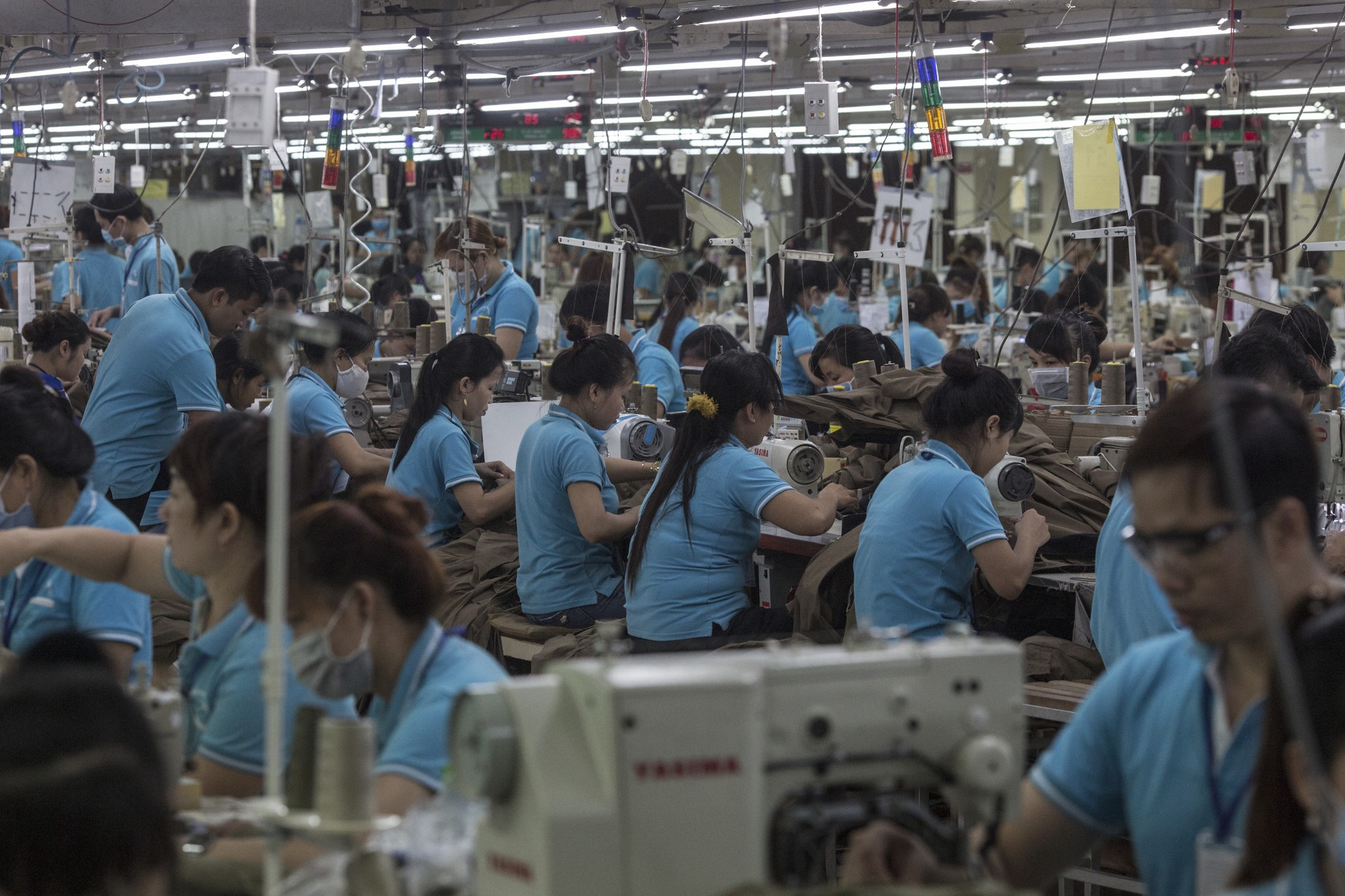 Line-workers at a garment factory in Dong Nai province, Vietnam, November, 2017. Credit: Sam Tarling/Oxfam