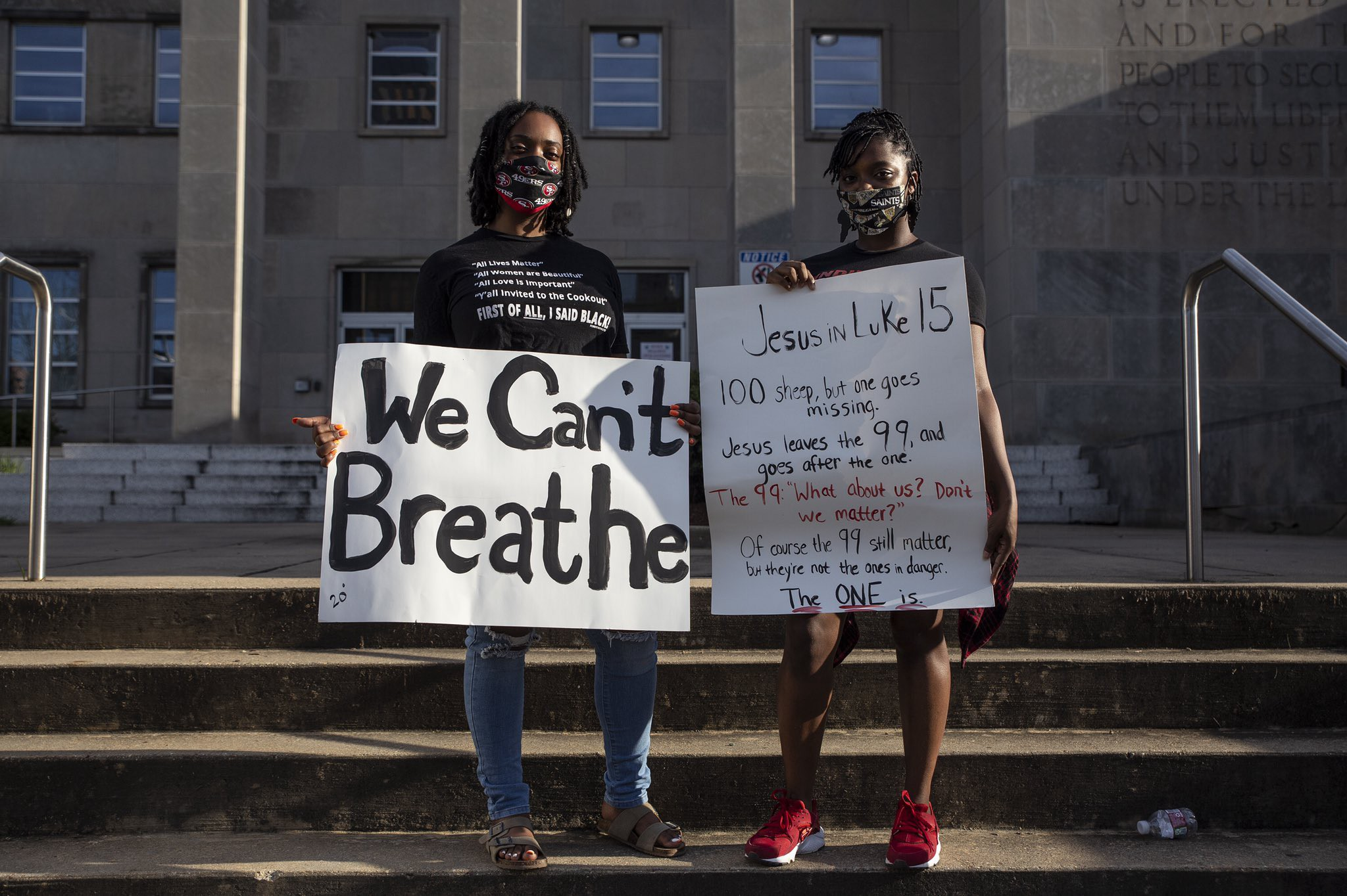 Peaceful protesters in Jackson, Mississippi.