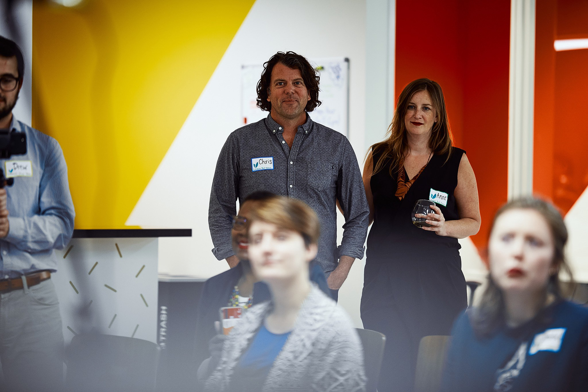 Launch Pad founders Anne Driscoll and Chris Schultz at the Memphis grand opening in March 2018.