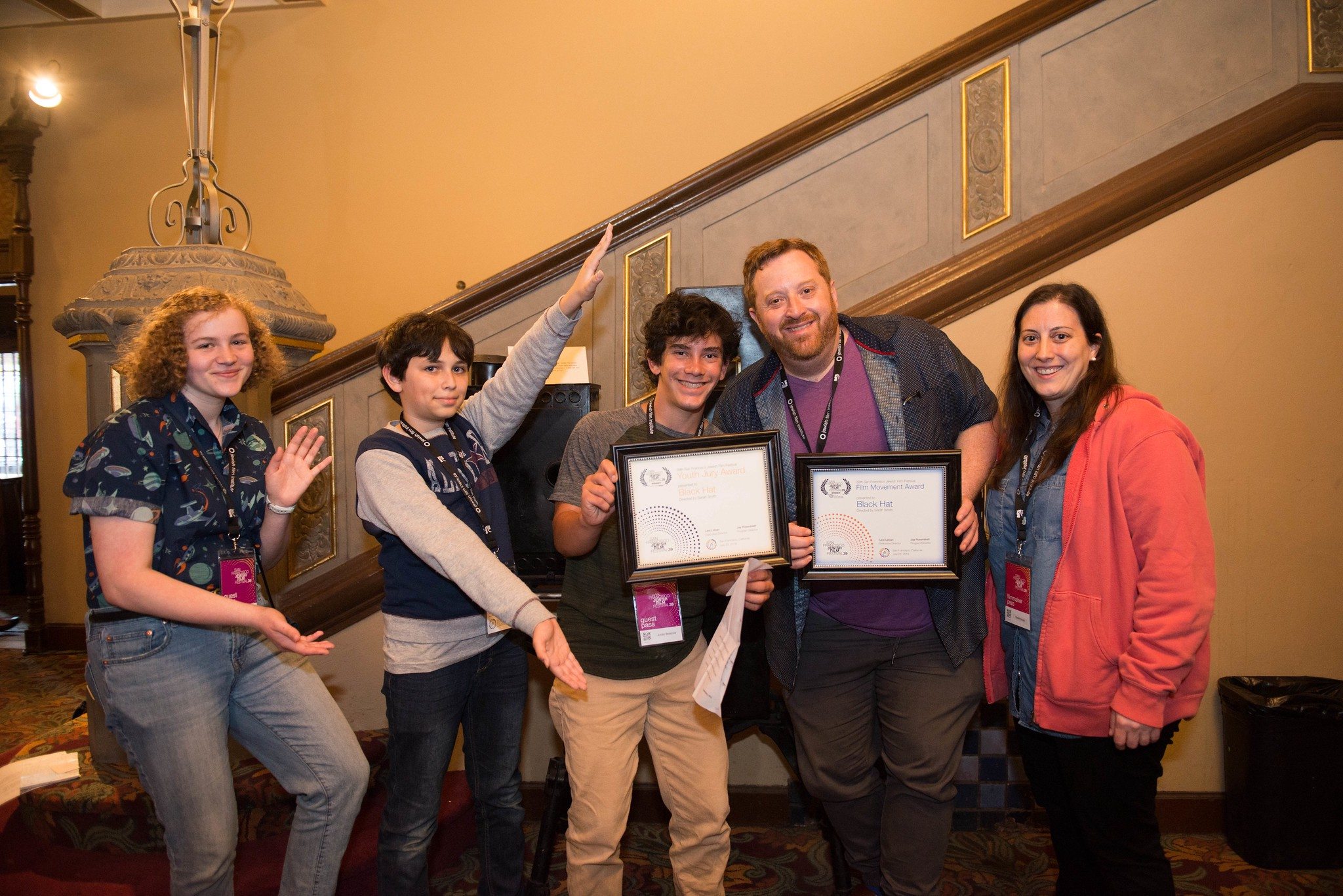 SFJFF39 Youth Jury presents the award to BLACK HAT filmmakers
