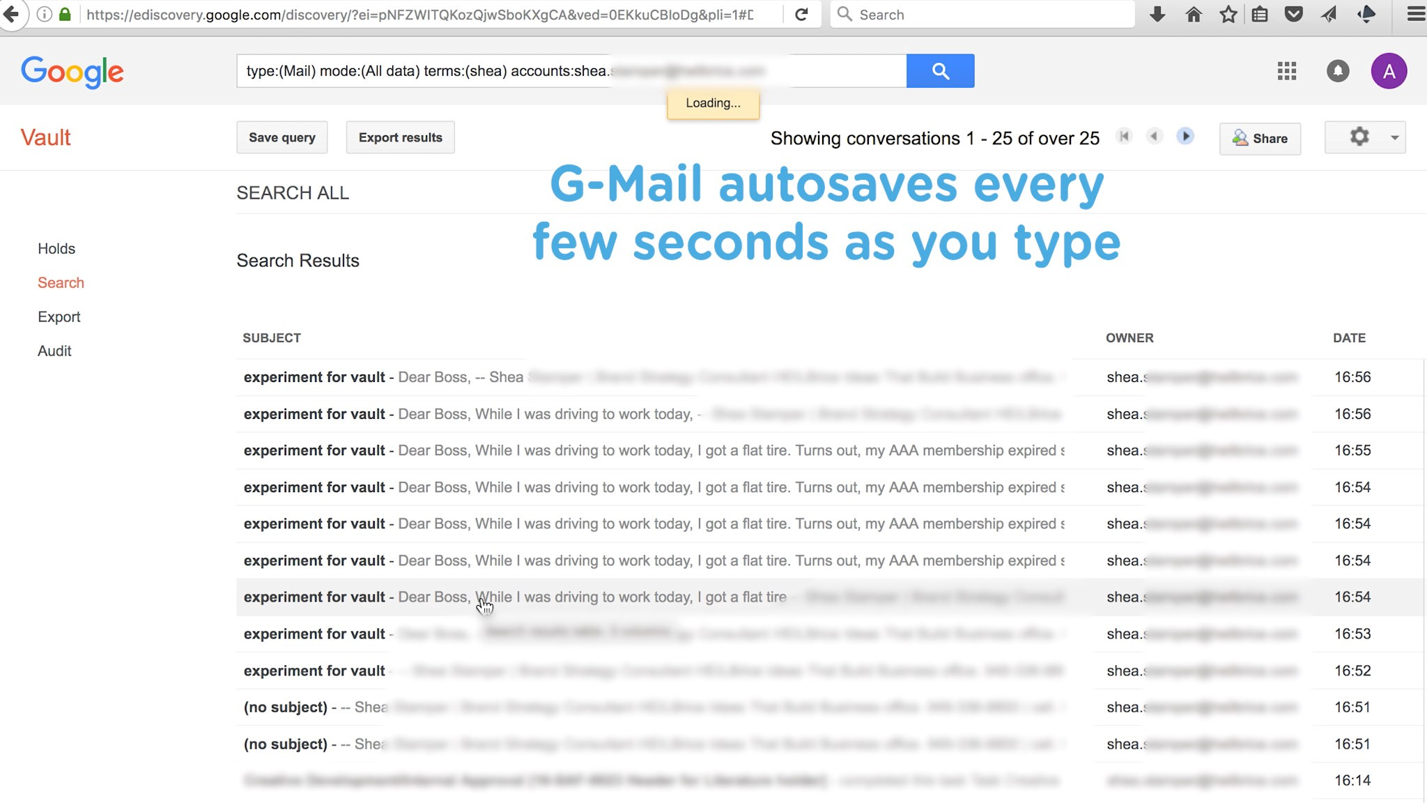 Google Vault Hangs on to Your Every Word- and not in a good way