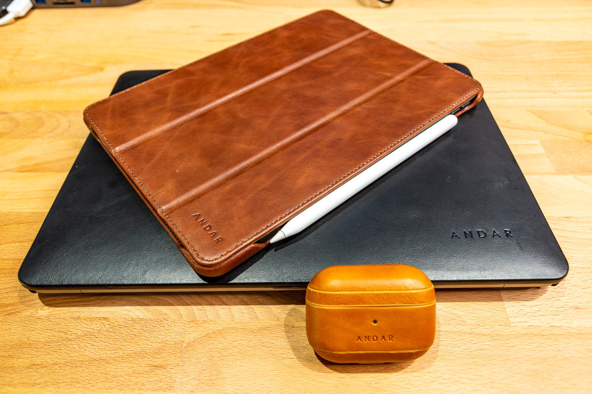 Airpods Pro Exclusive Clock Movement Wooden Case with Leather
