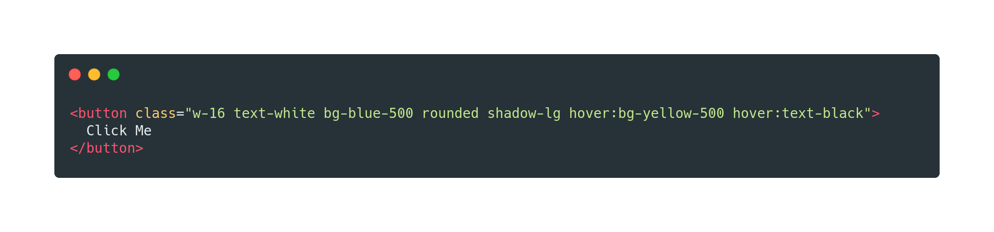 Using Tailwind CSS on a HTML button