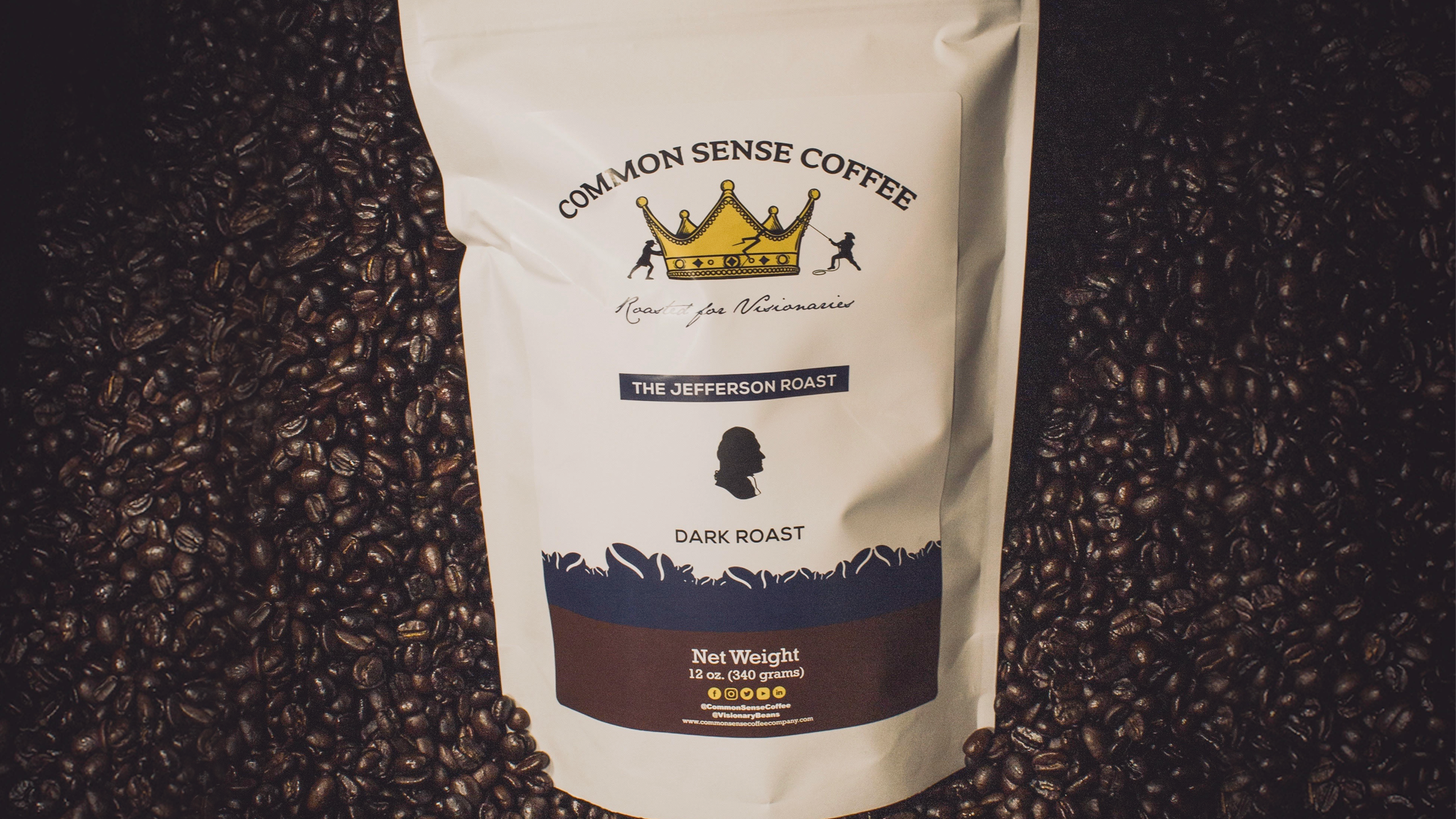 Common Sense Coffee's Jefferson Roast is roasted with single-origin beans from Guatemala.