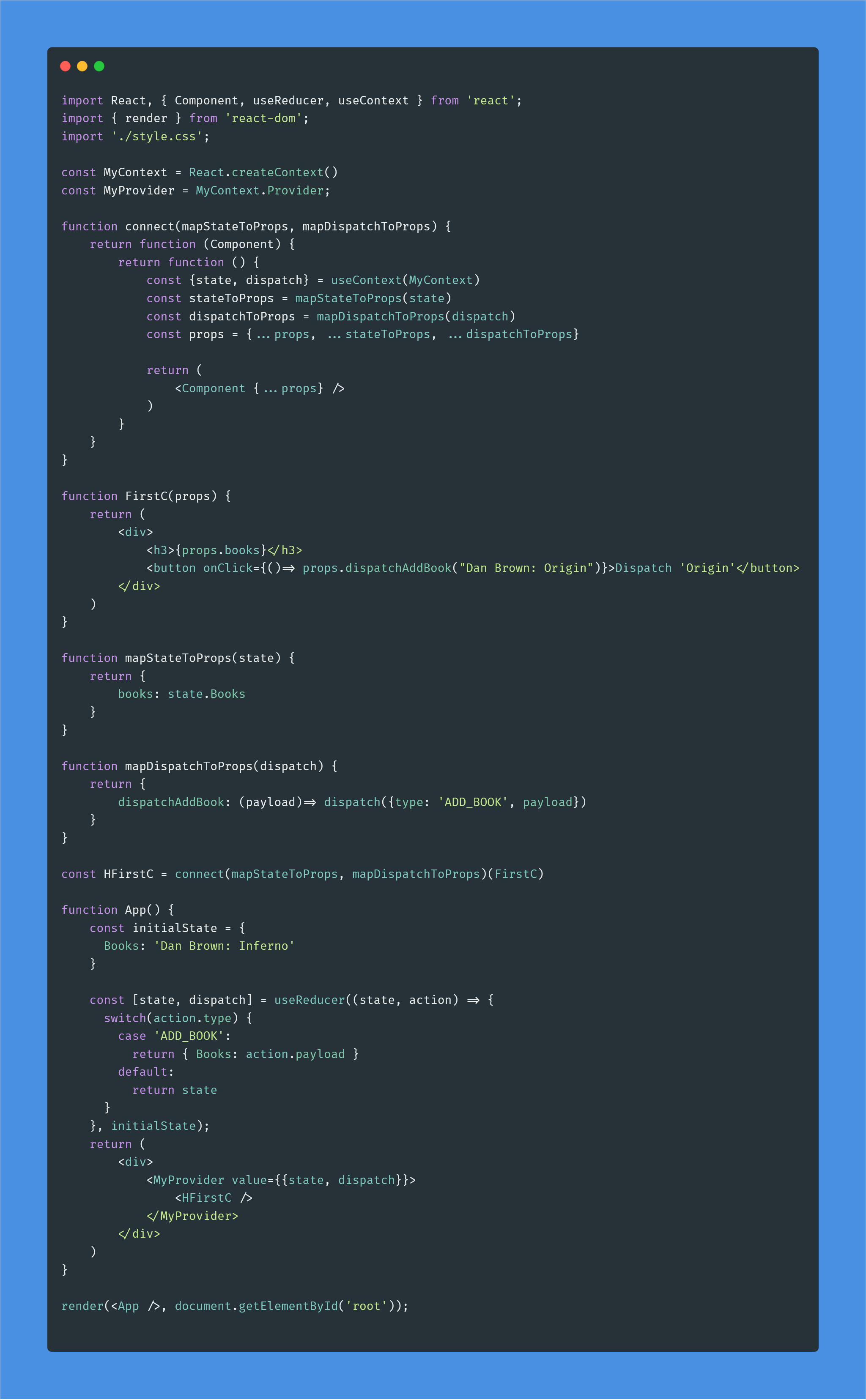 Build Your Own React-Redux Using useReducer and useContext Hooks