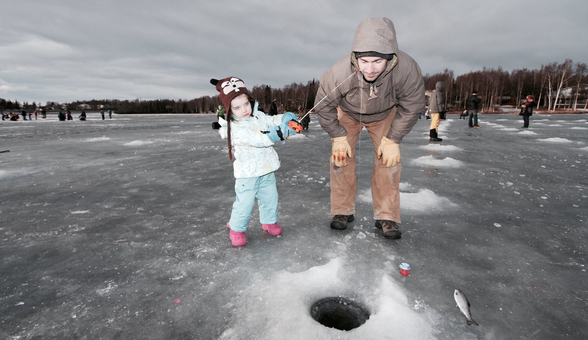 kids ice fishing lake anchorage