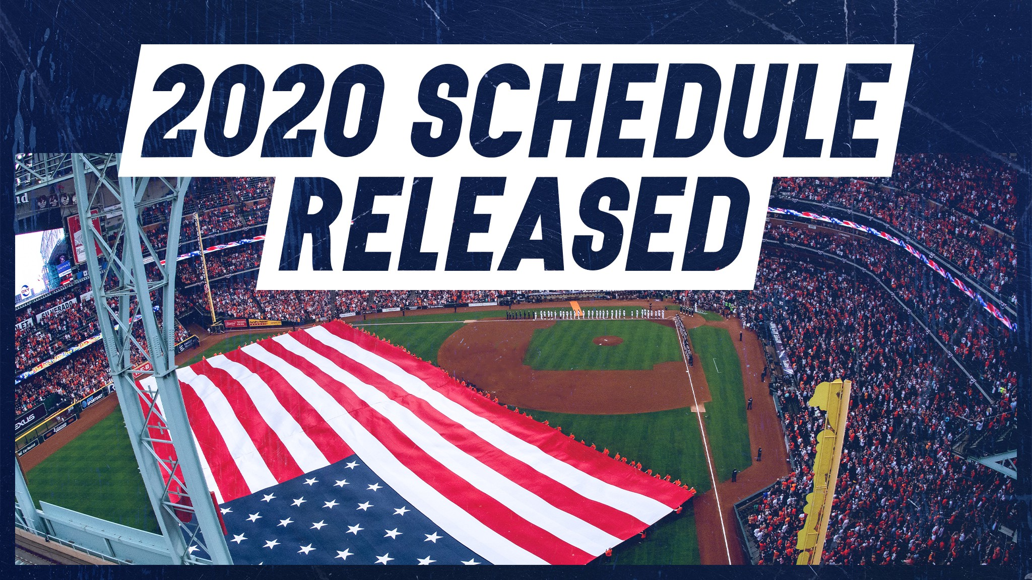 graphic about Houston Astros Printable Schedule called Astros launch 2020 monthly period routine - Astros Mission