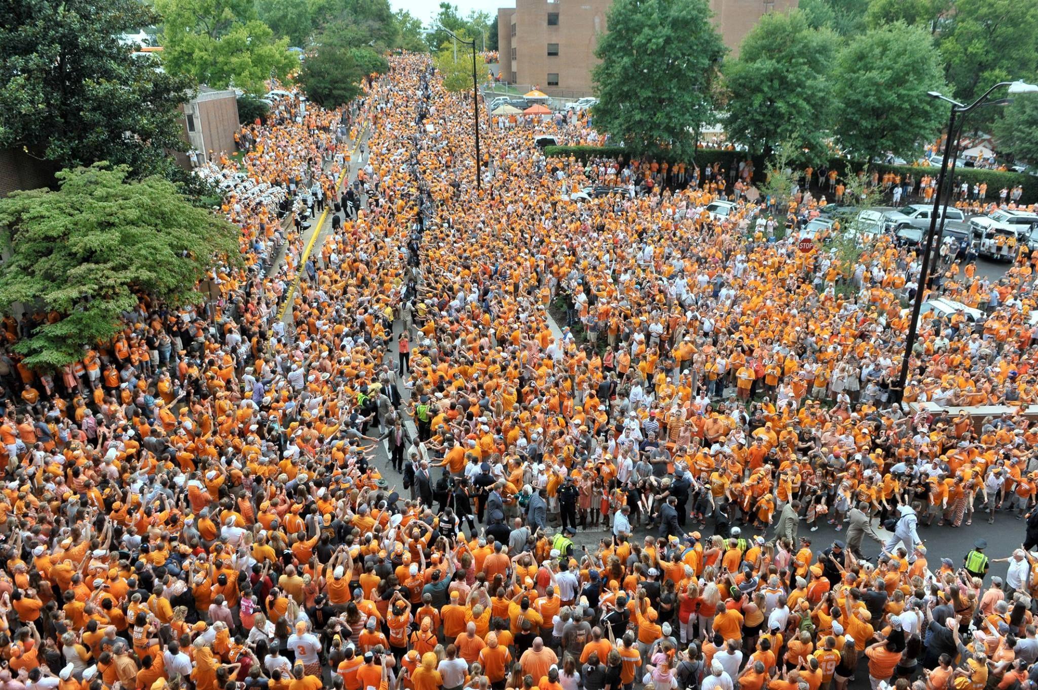 Jim Walker describes the University of Tennessee 'Vol Walk'