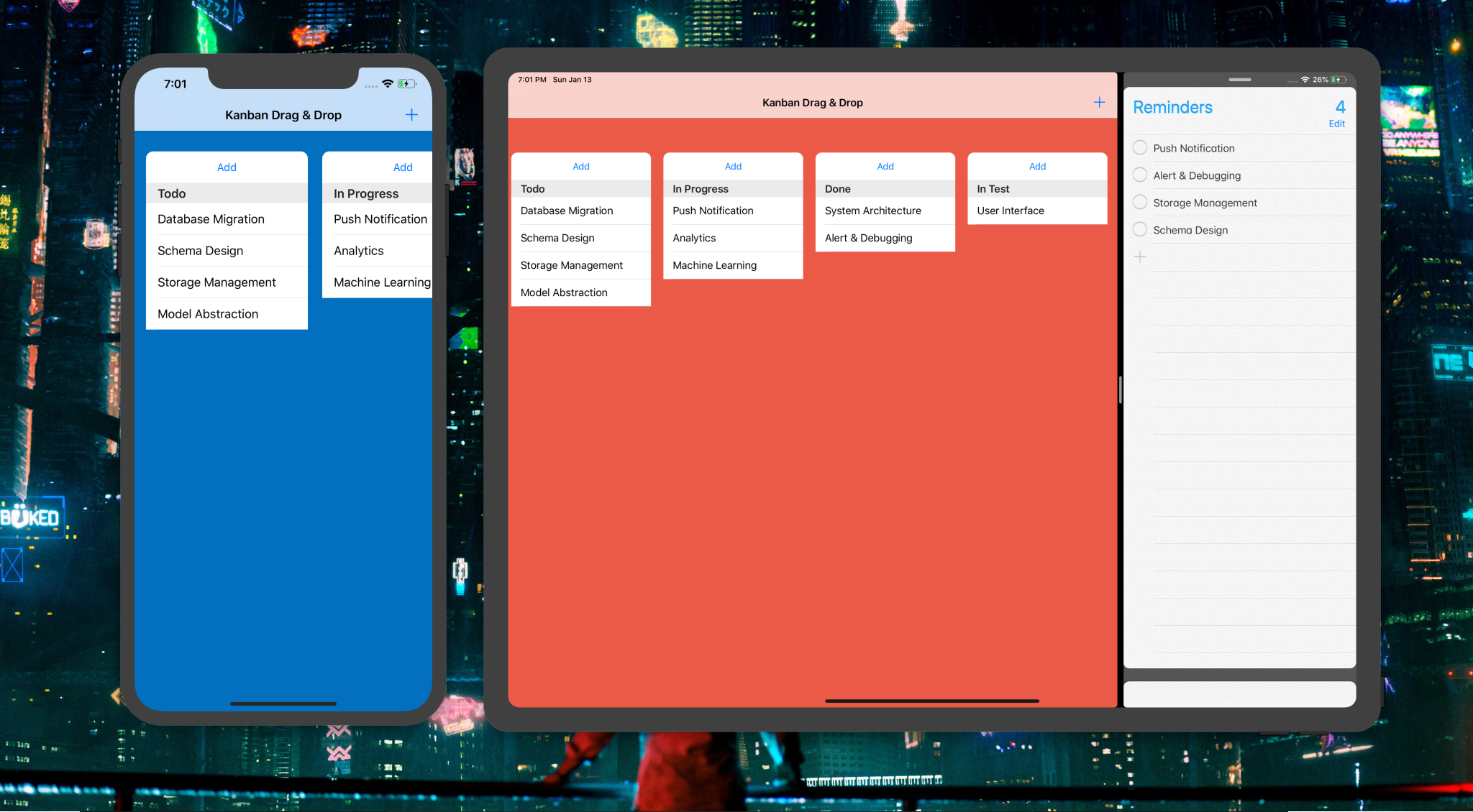 Building A Trello Like Ios App With Drag Drop Api