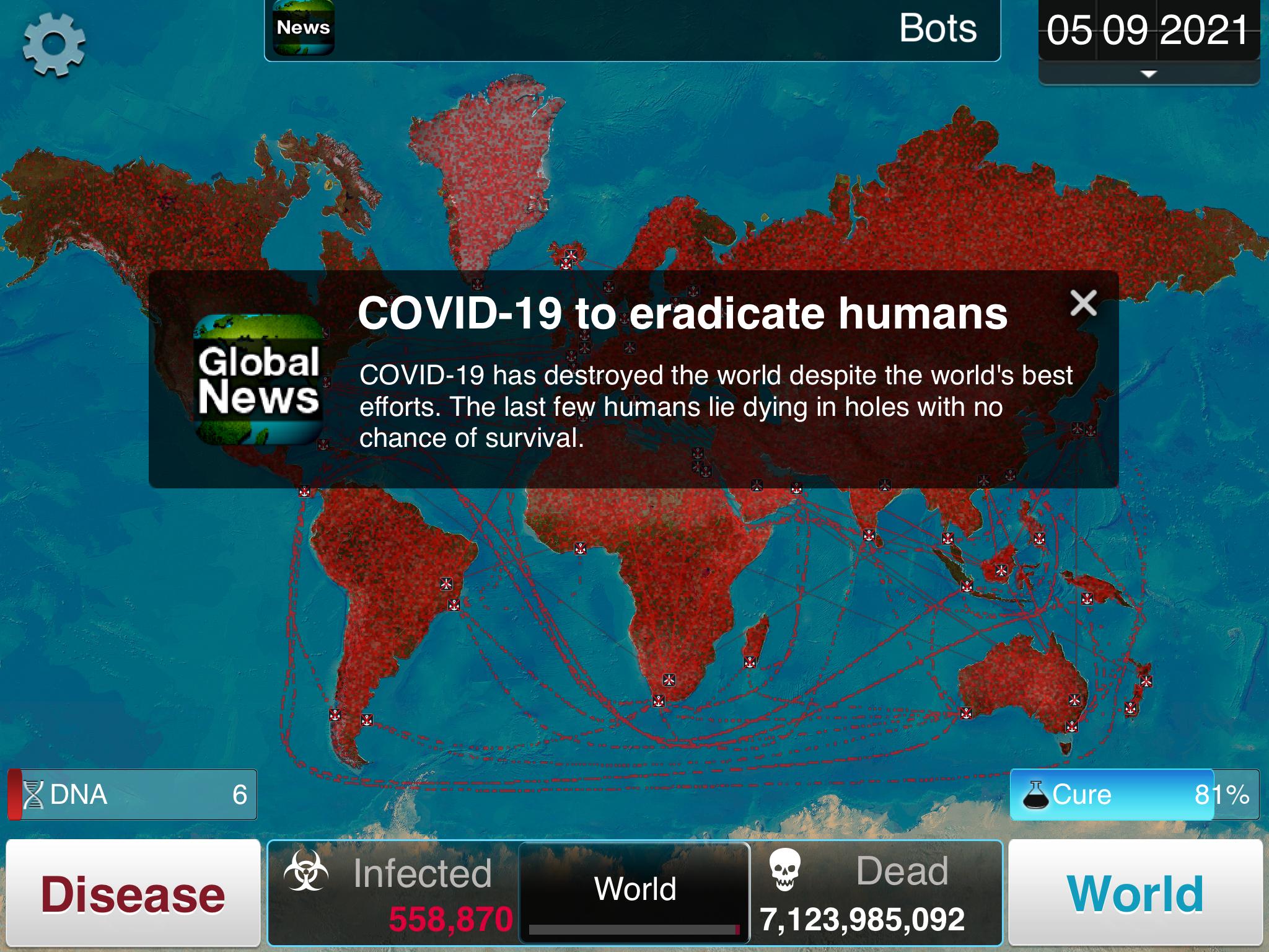 Image of: I Recreated Covid 19 In Plague Inc And The World Died In 562 Days By Toni Koraza Data Driven Investor Medium
