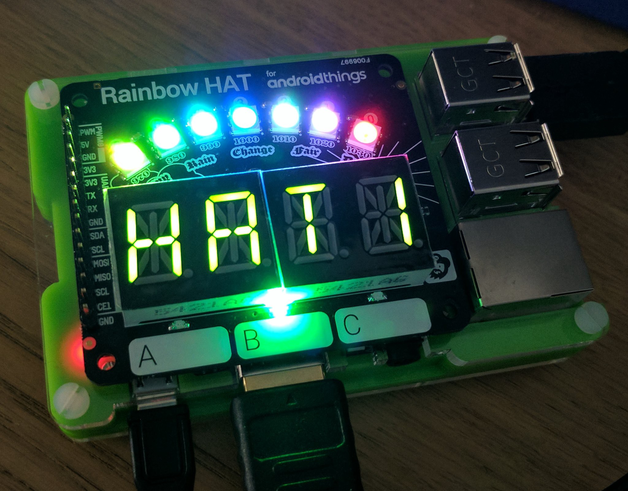 DoReFindMi — A game experiment for Rainbow HAT and Android