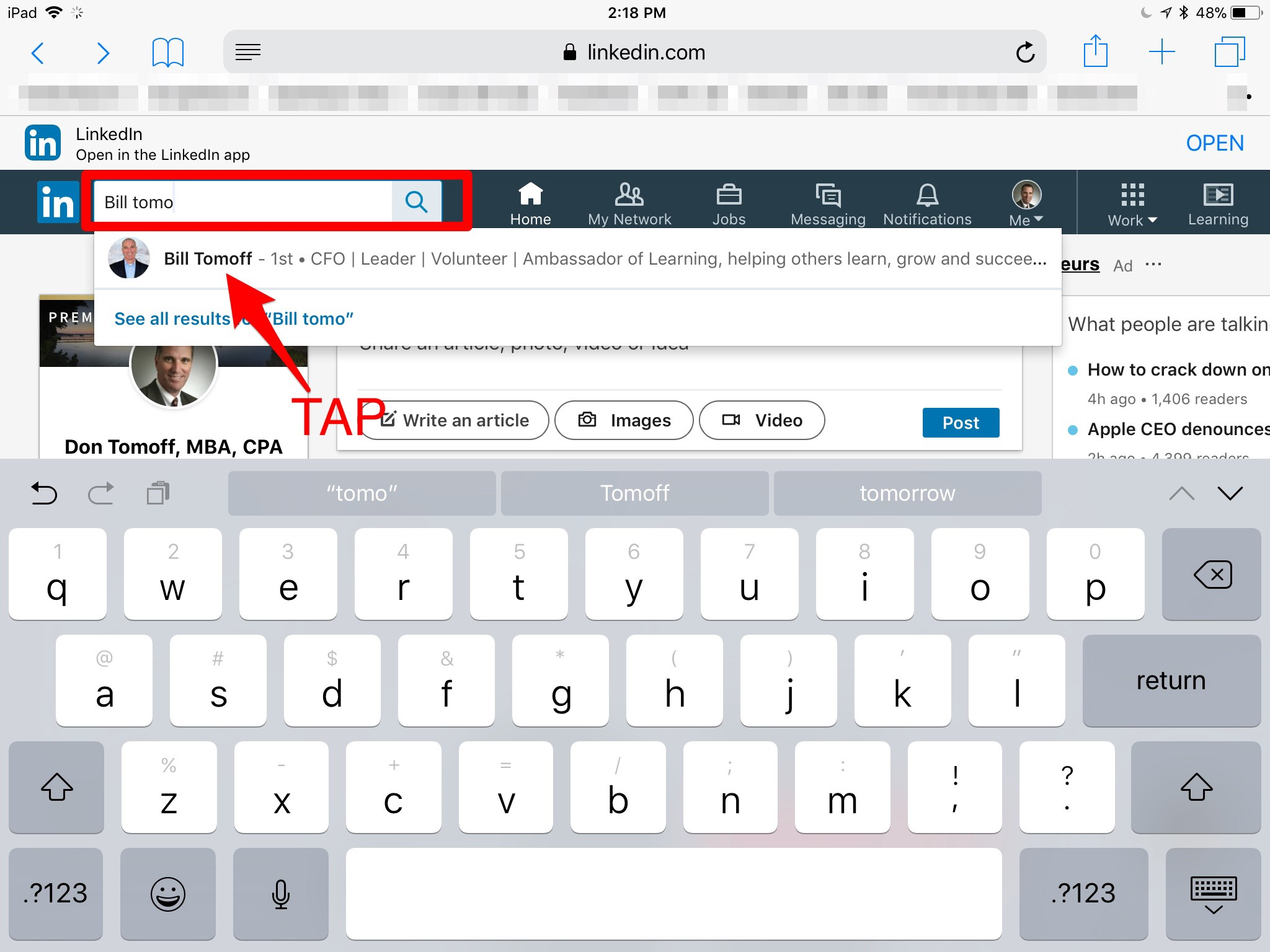 Linkedin Tip Download A Profile Pdf On Your Mobile Device By Don Tomoff Medium