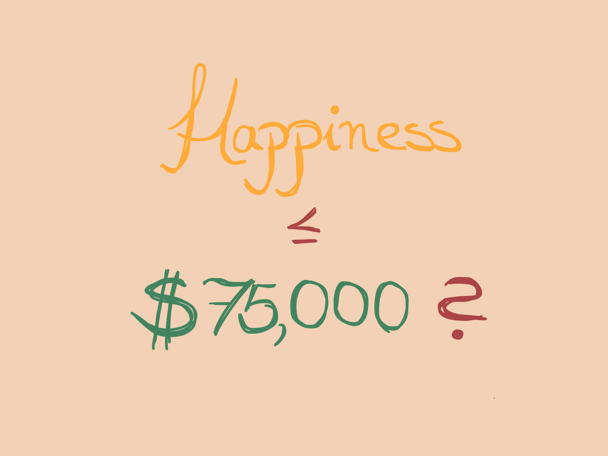 A Year Of Happiness is there no more happiness after $75,000? - siavush