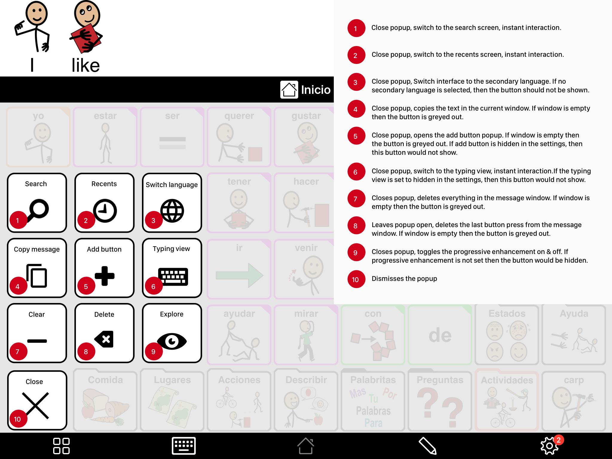 An annotated screen specifying the requirements to the development team.
