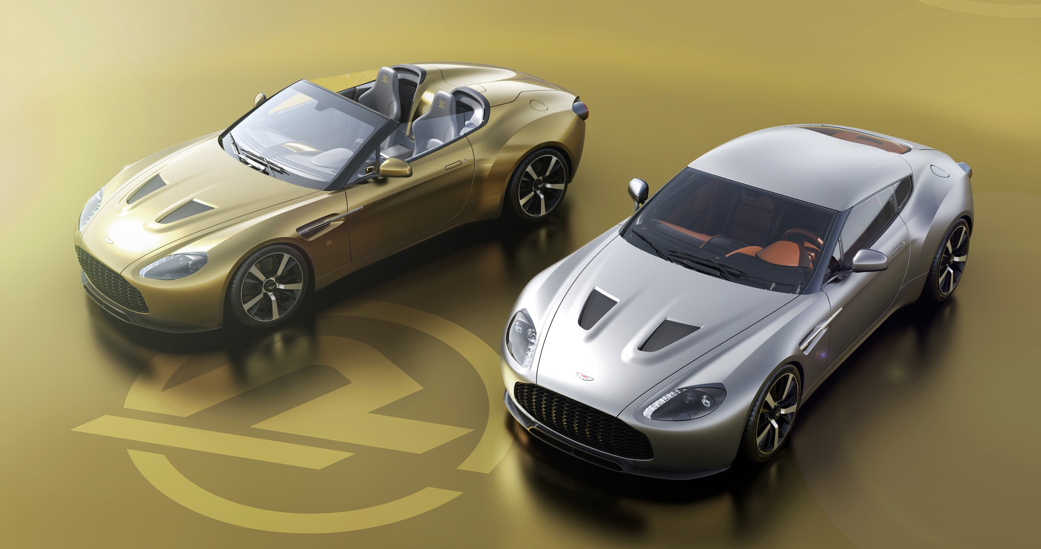 The Golden Twins Aston Martin V12 Zagato Continuation By Zack Norman Medium