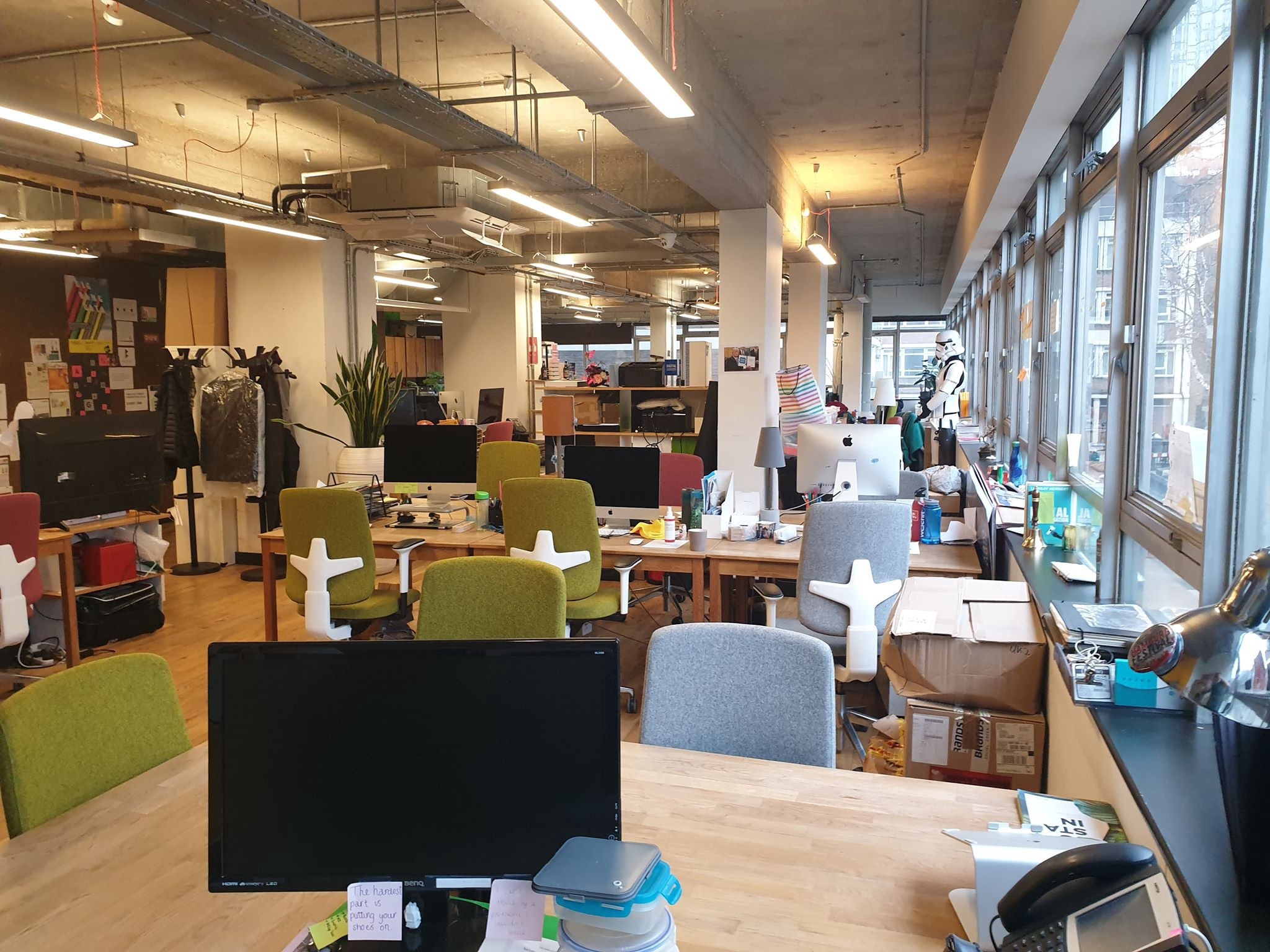 The Trampery Old Street workspace, completely deserted during the coronavirus outbreak