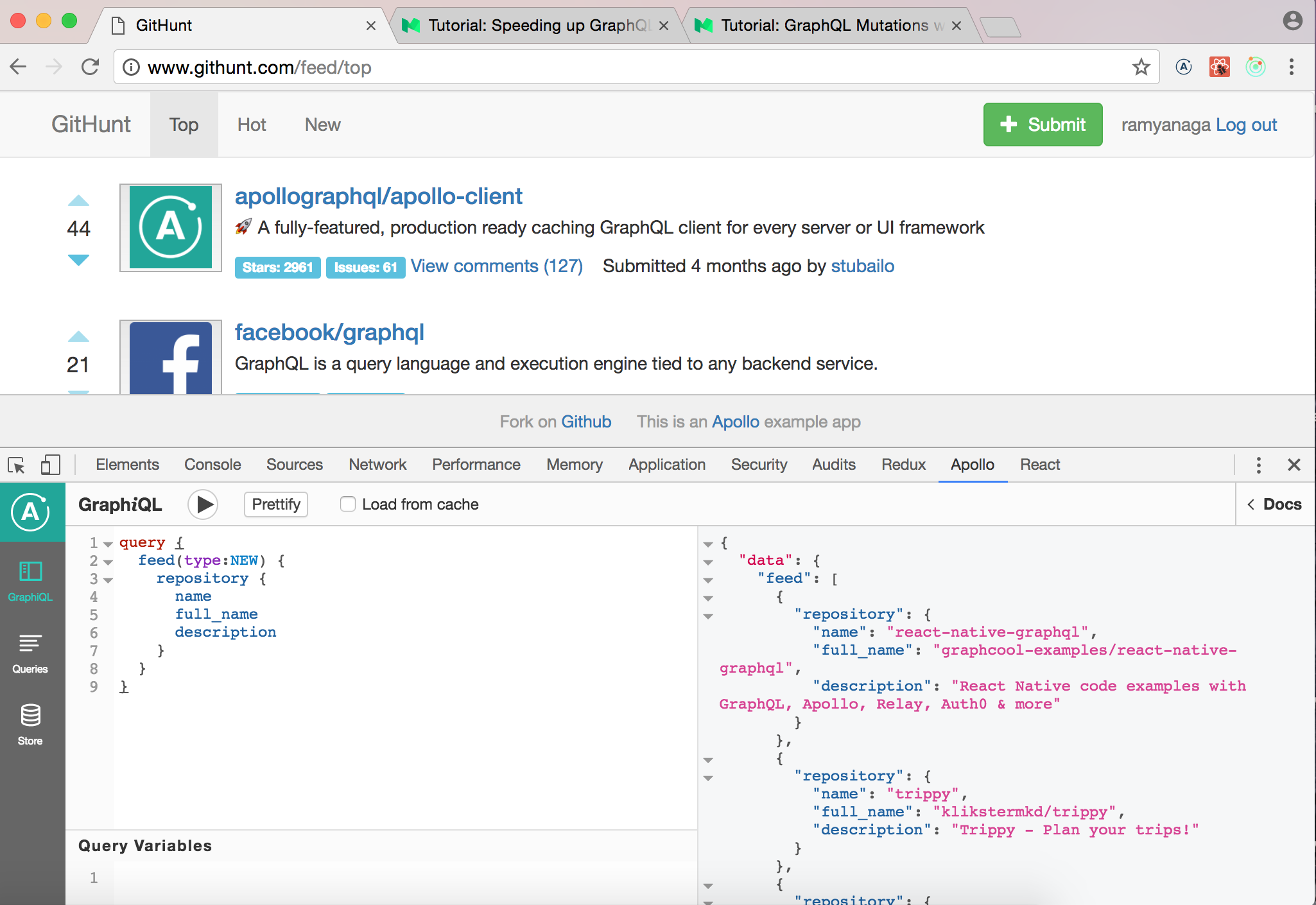 Inspecting your GraphQL client in the browser - Apollo GraphQL