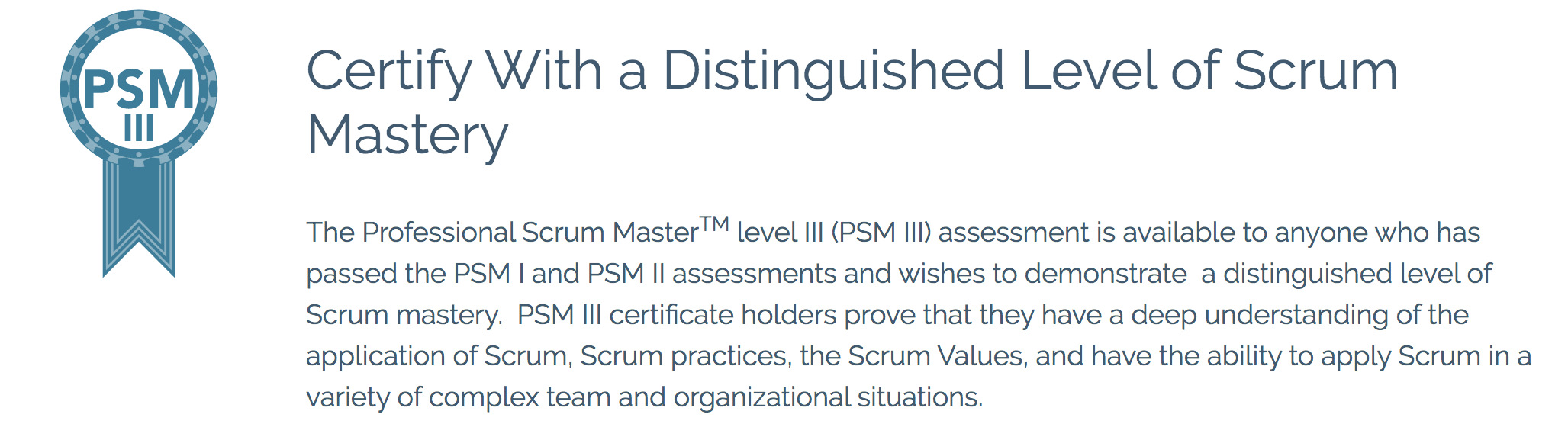 PSM III?—?Distinguished Level of Scrum Mastery