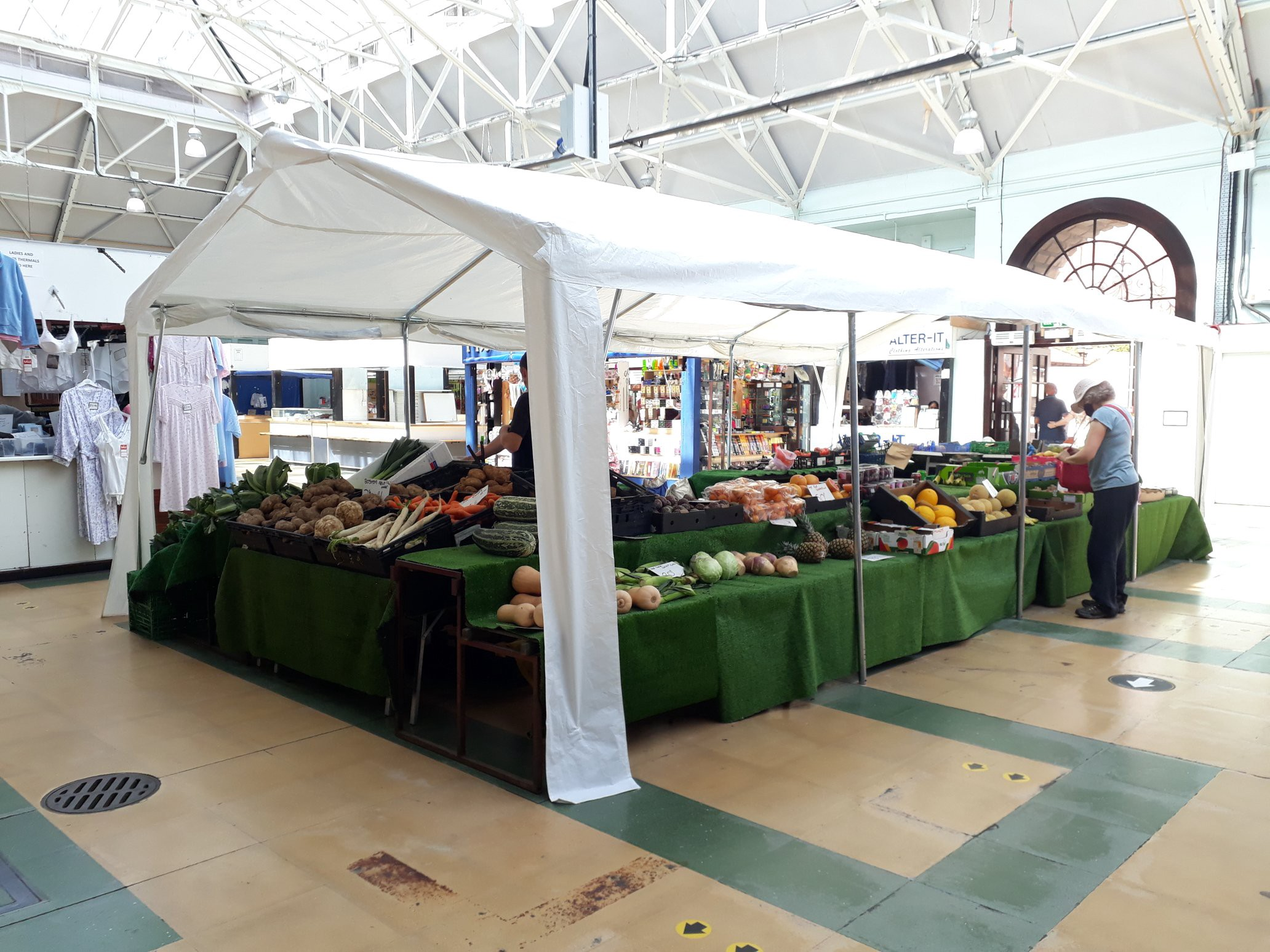 spot the customers in deserted Lincoln Central Market