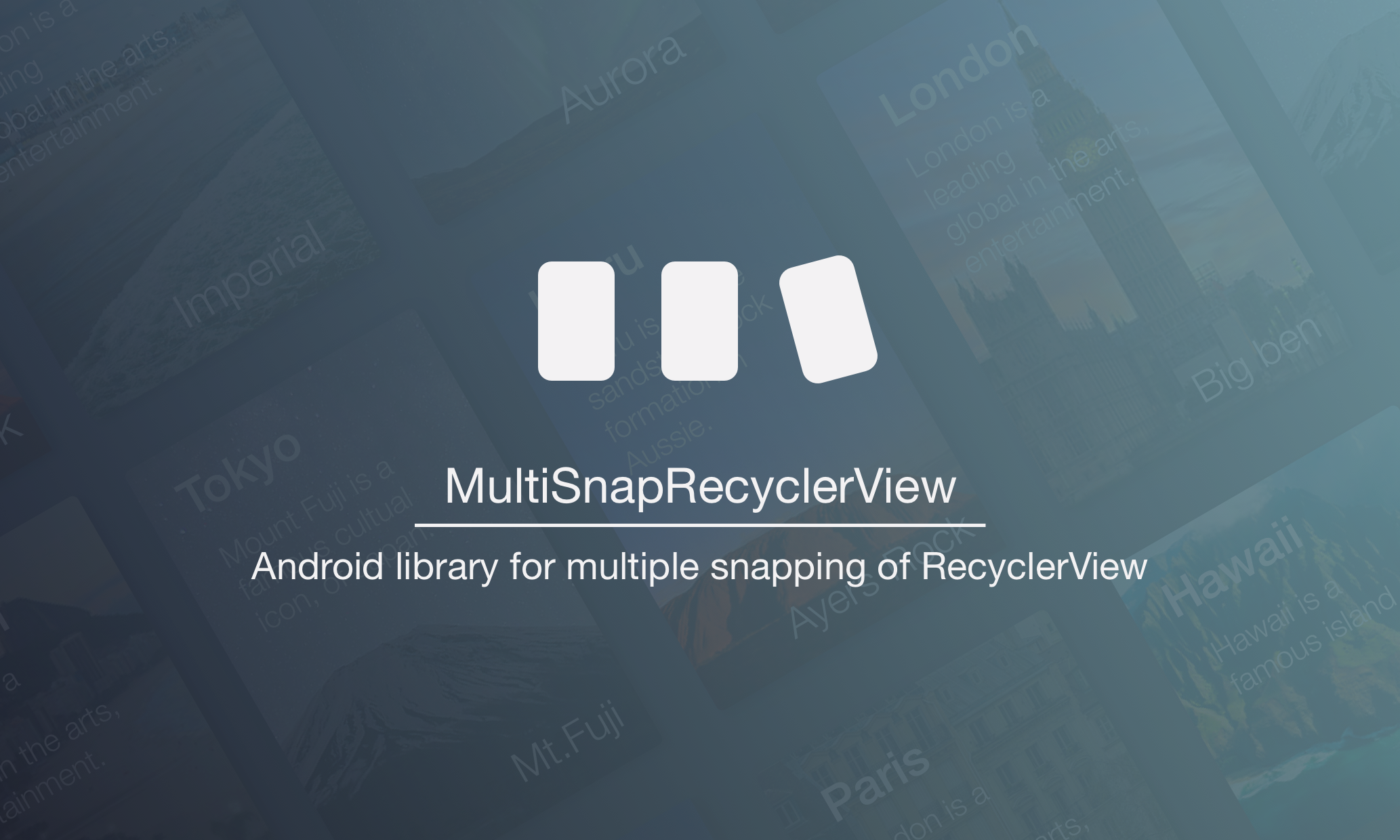 Customize your RecyclerView with SnapHelper - Taku Semba