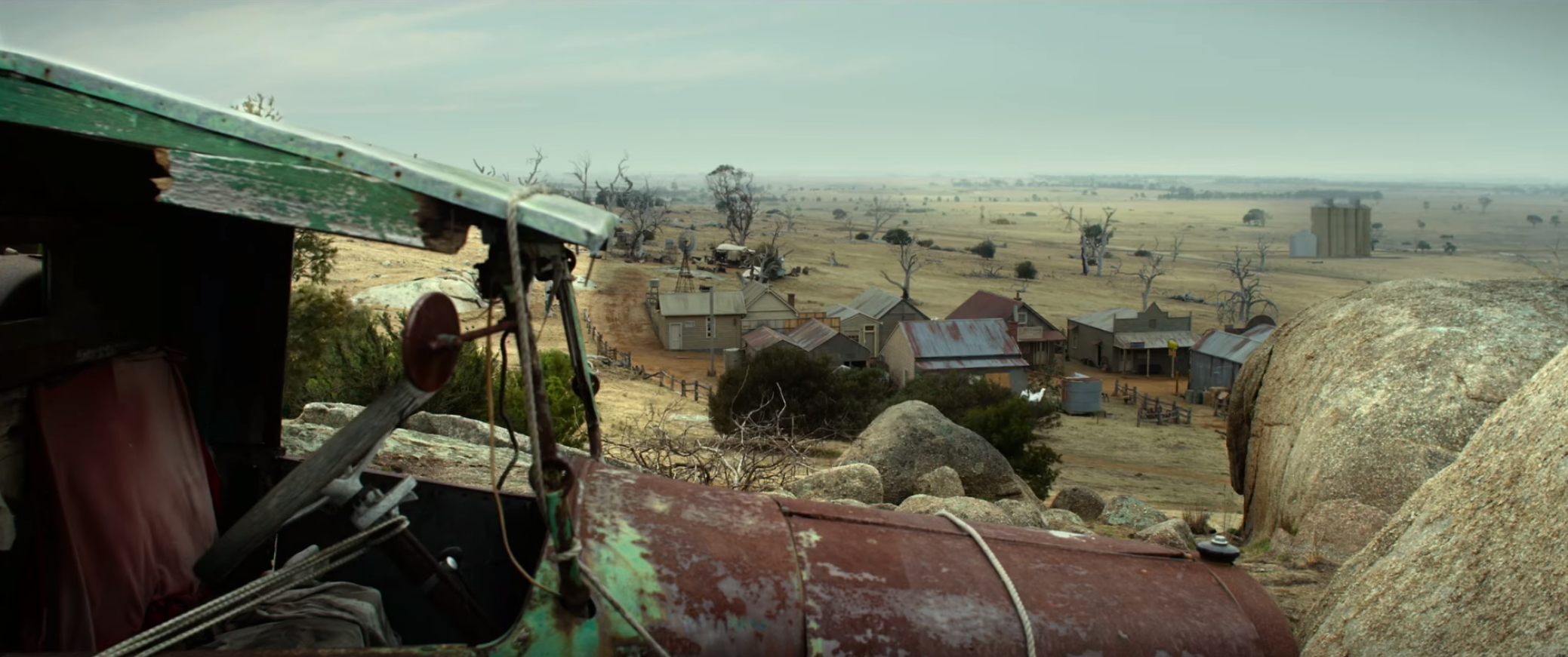 A shot from The Dressmaker, overlooking Dungatar, the town where the film is set.
