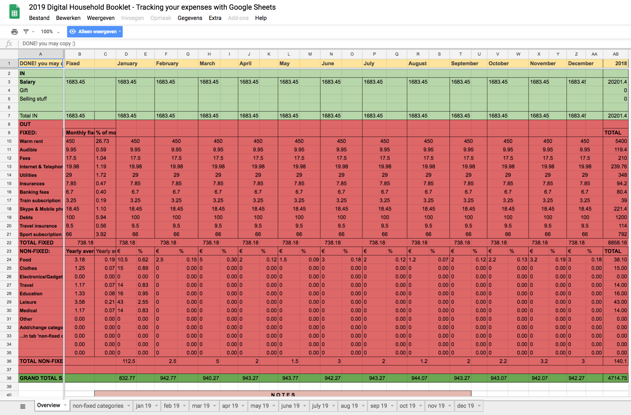How to easily track your expenses with Google Sheets
