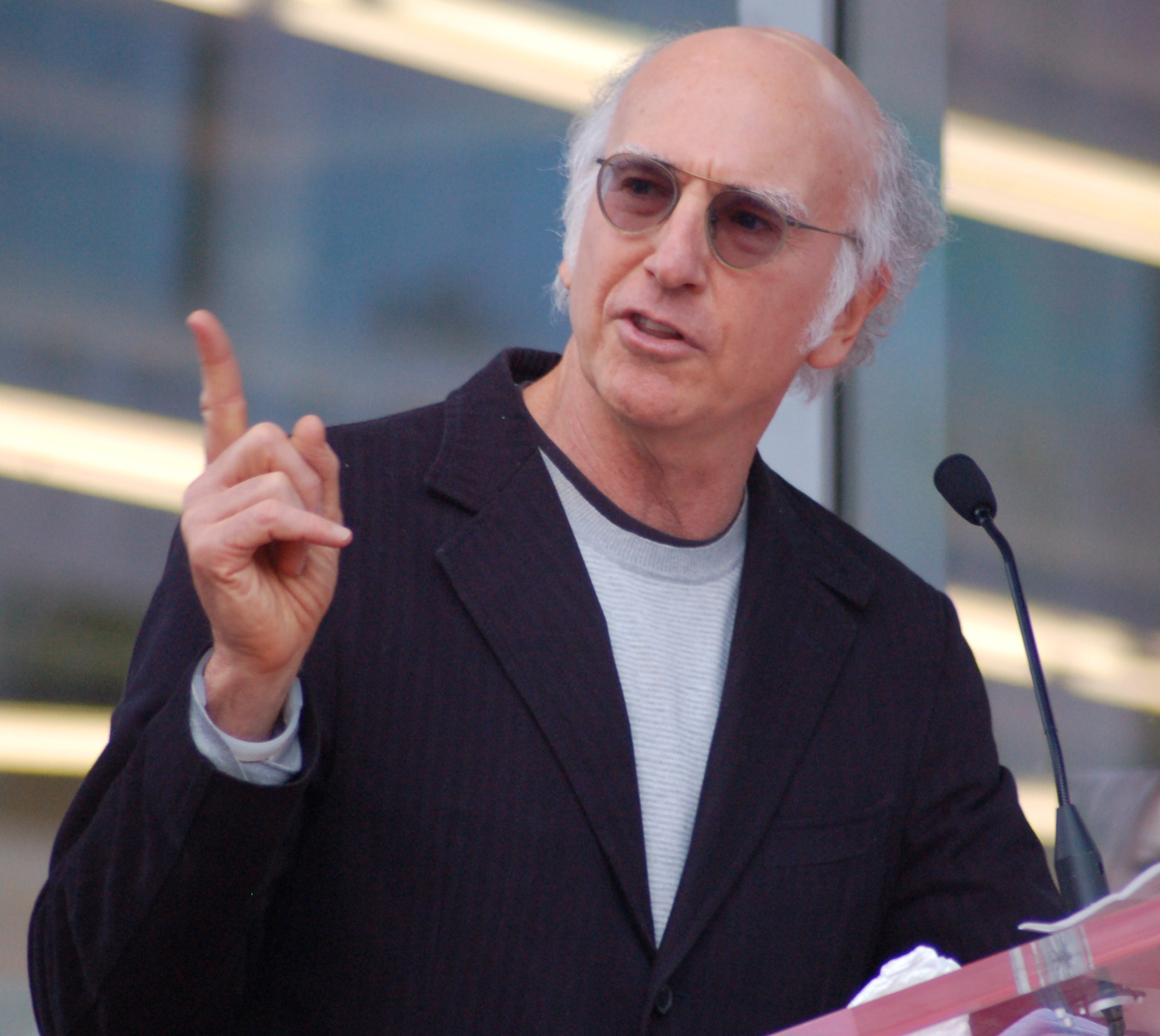 The actor and comedian Larry David