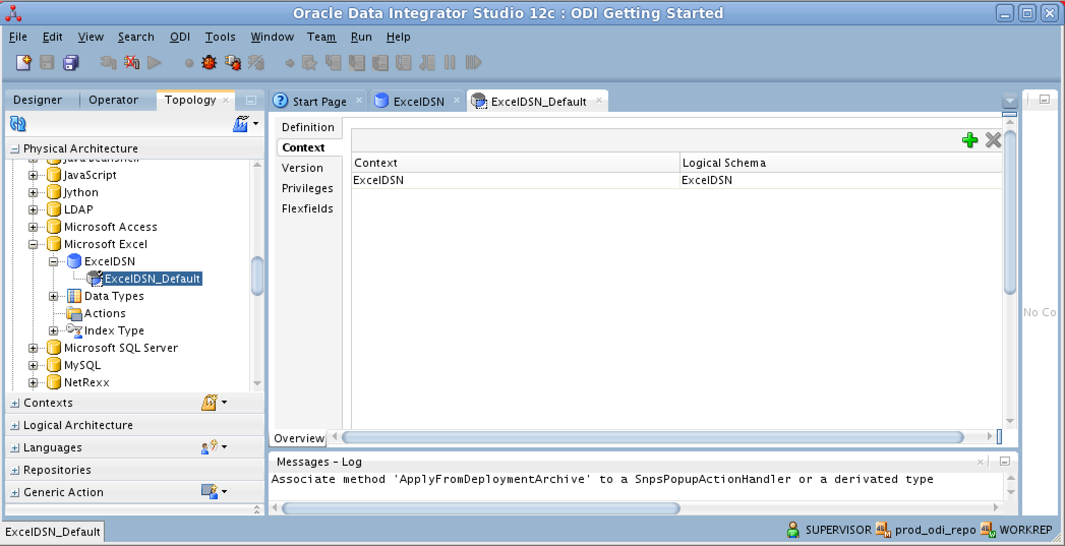 Using the Oracle Data Integrator (ODI) 12 2 1 with Microsoft