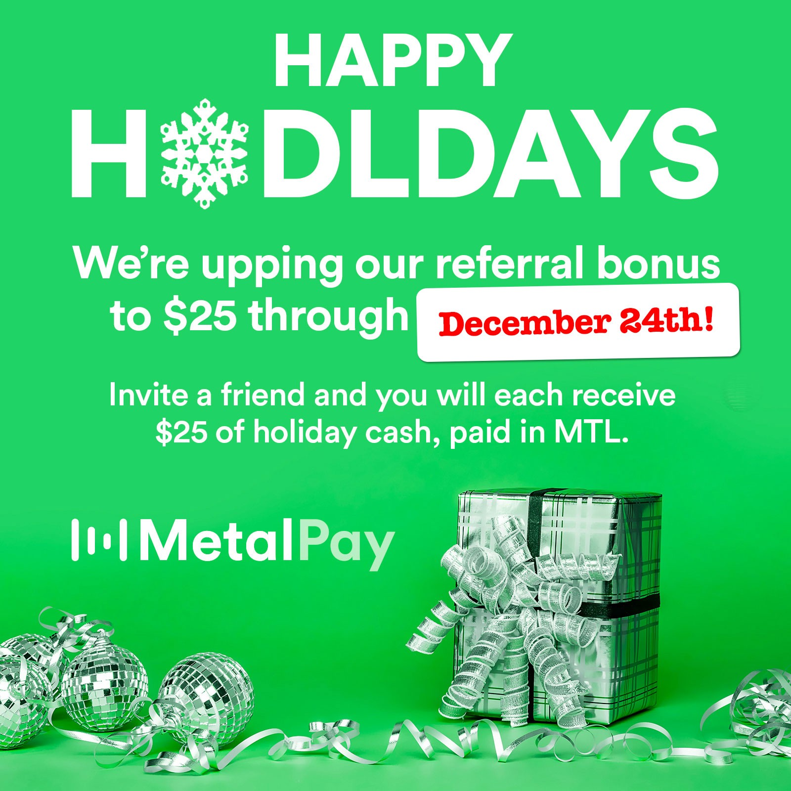Happy HODLdays 2018 Referral Program Update - Marshall