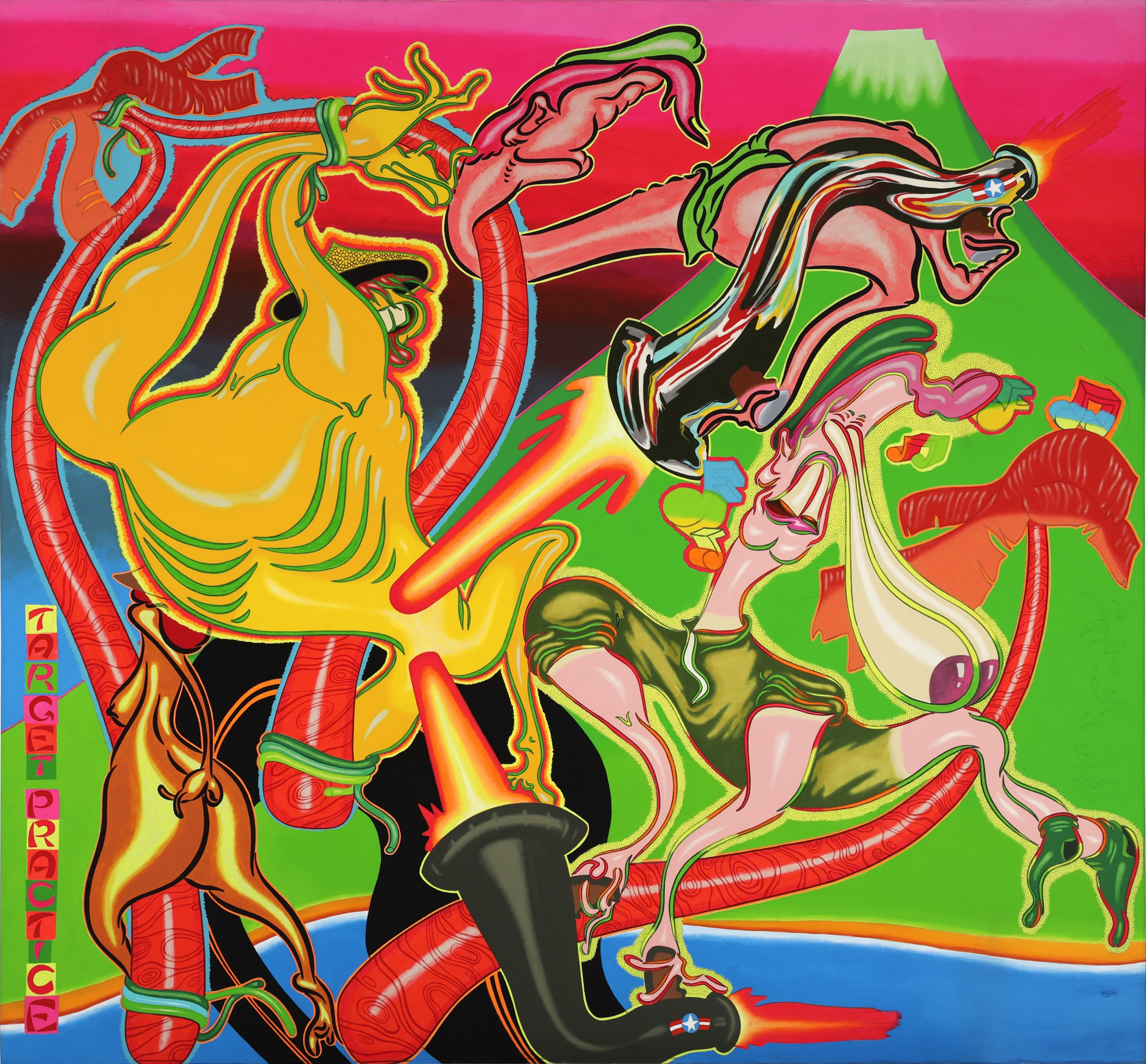 Peter Saul, Target Practice, 1968, acrylic on canvas, Hirshhorn Museum and Sculpture Garden, Smithsonian Institution, Joseph