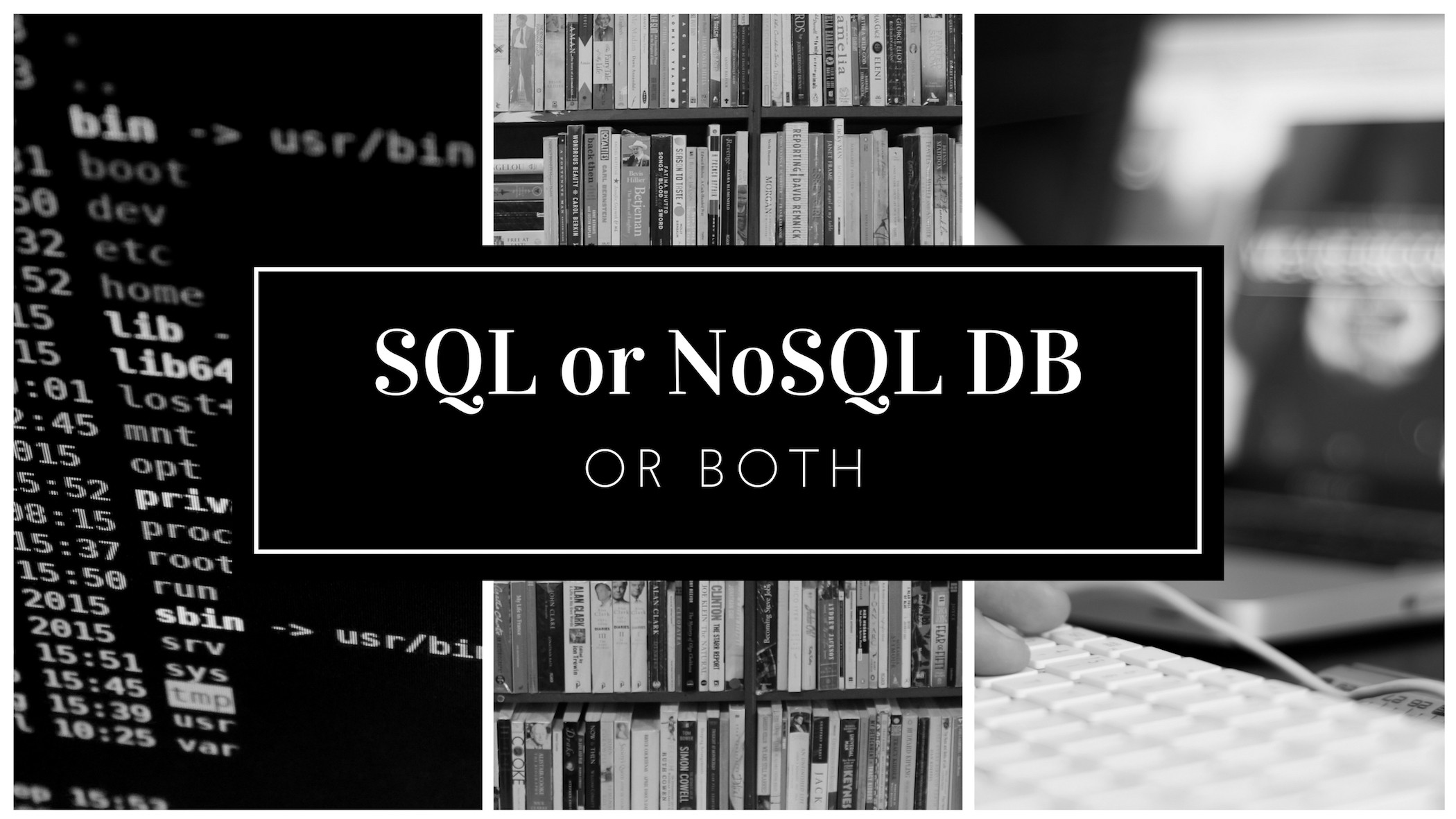 Should You Use NoSQL Or SQL Db Or Both? - The Startup - Medium