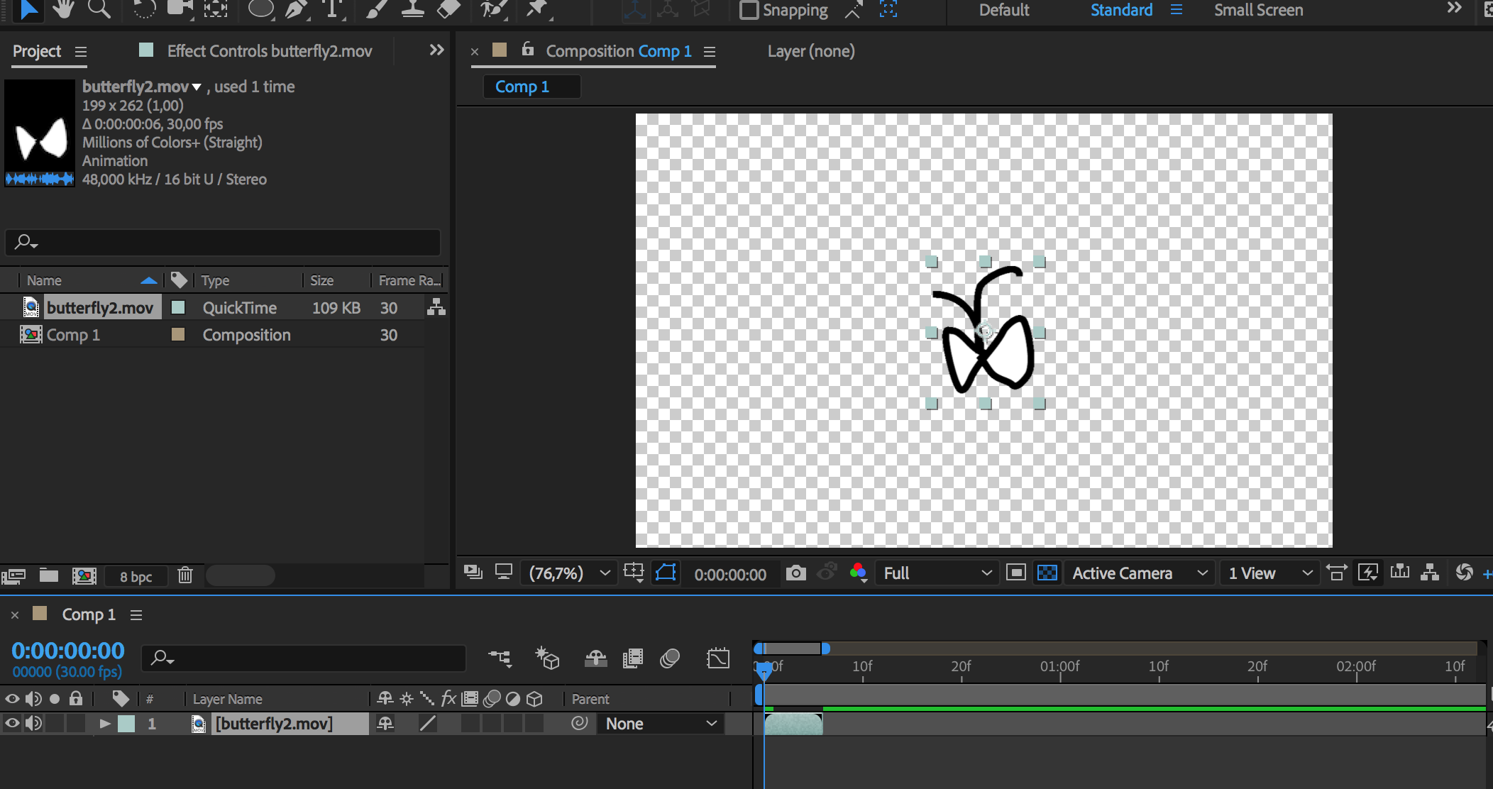 Importing transparent Gif into Adobe After Effects - Xinyue
