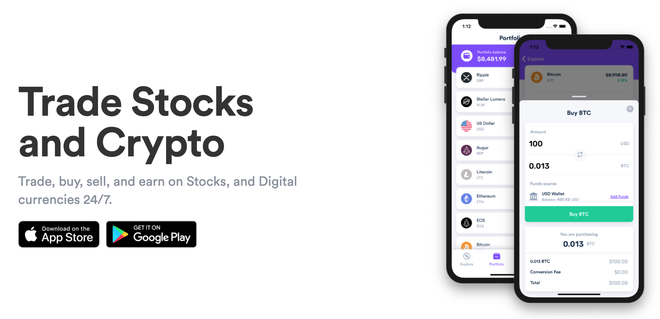 ios App AnchorUSD landing page on website