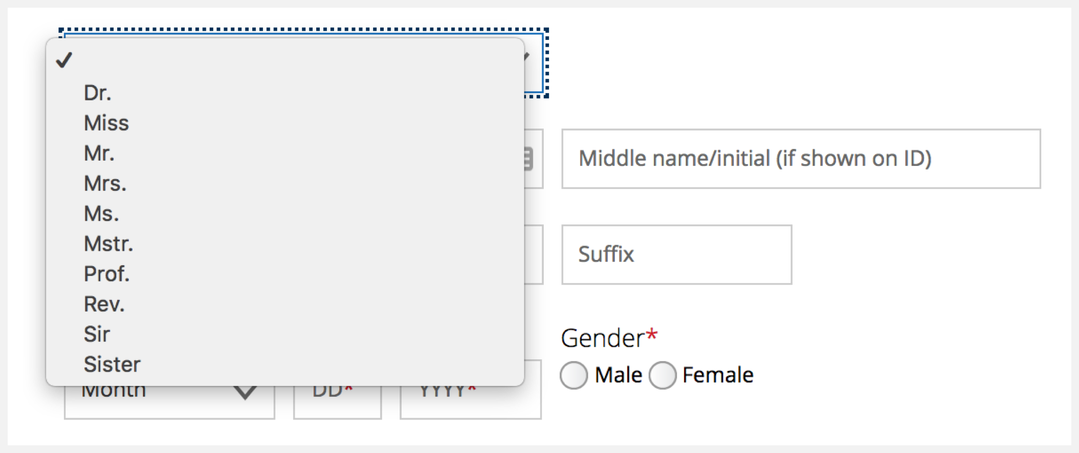 Designing forms for gender diversity and inclusion - UX
